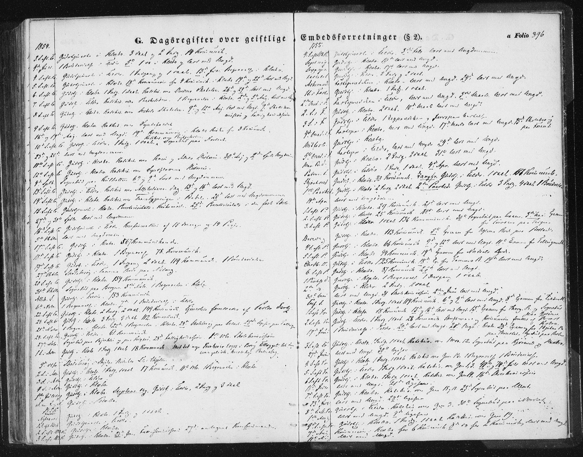 SAT, Ministerialprotokoller, klokkerbøker og fødselsregistre - Sør-Trøndelag, 618/L0441: Ministerialbok nr. 618A05, 1843-1862, s. 396