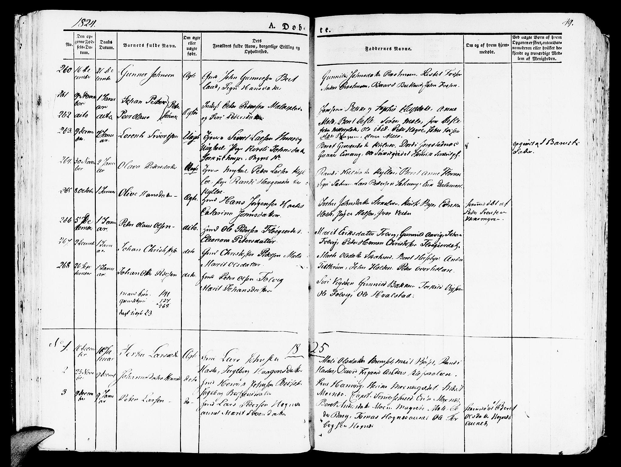 SAT, Ministerialprotokoller, klokkerbøker og fødselsregistre - Nord-Trøndelag, 709/L0070: Ministerialbok nr. 709A10, 1820-1832, s. 49