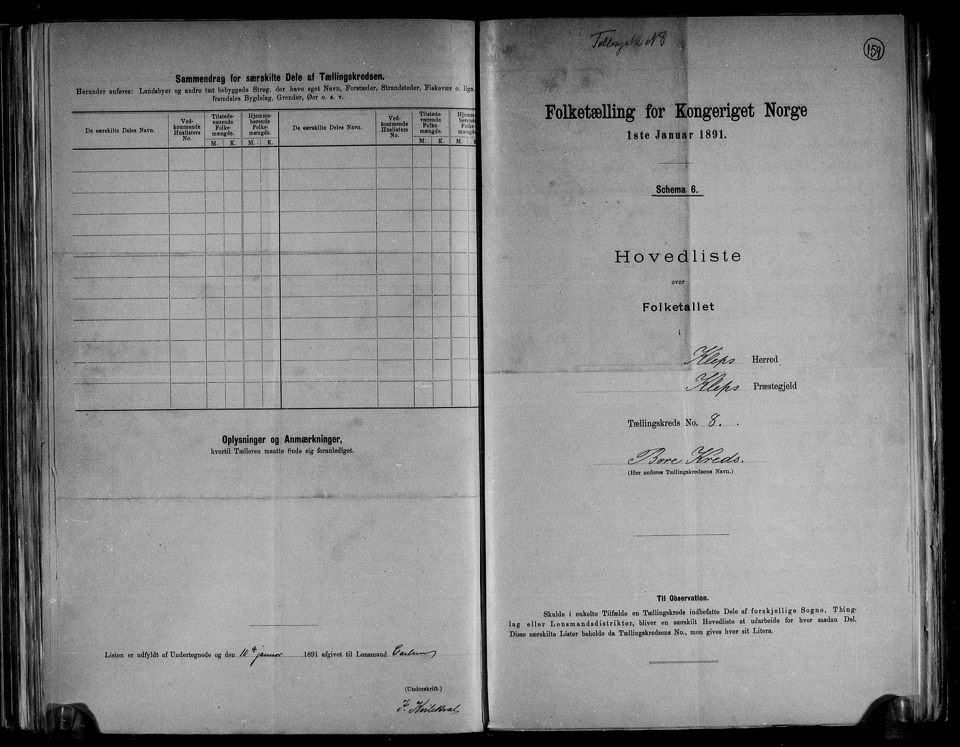 RA, Folketelling 1891 for 1120 Klepp herred, 1891, s. 20