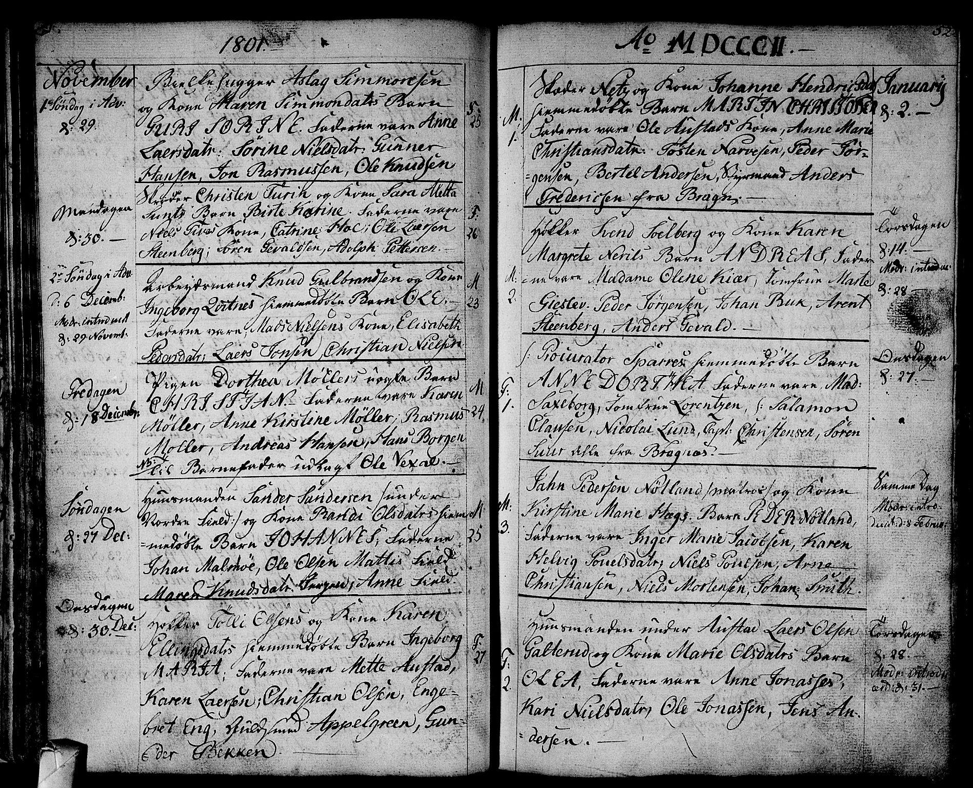 SAKO, Strømsø kirkebøker, F/Fa/L0010: Ministerialbok nr. I 10, 1792-1822, s. 52