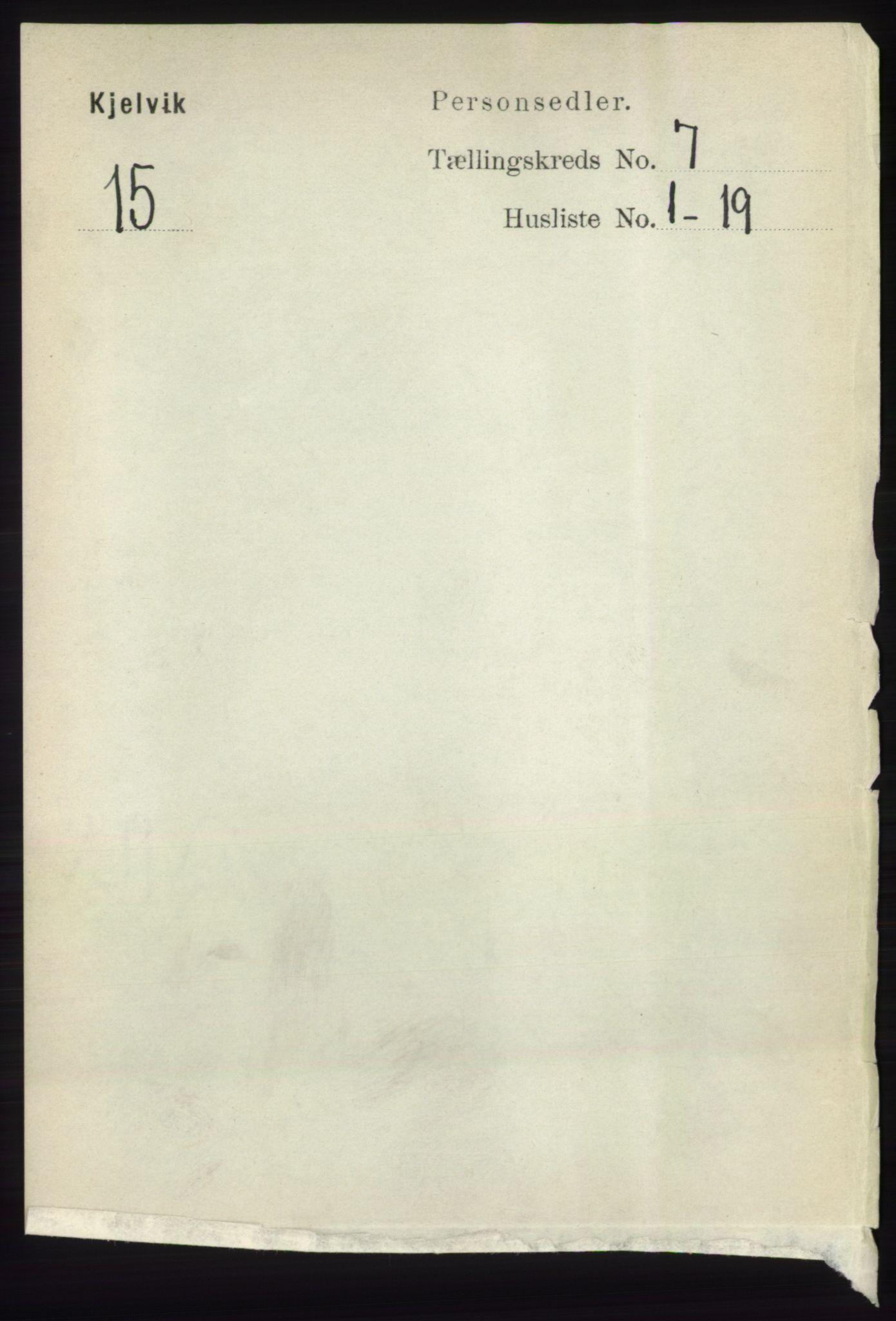 RA, Folketelling 1891 for 2019 Kjelvik herred, 1891, s. 886