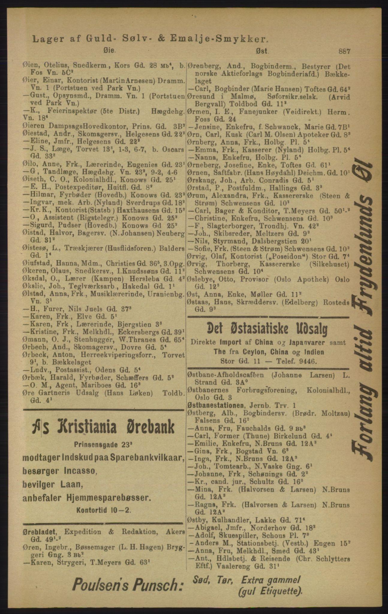 PUBL, Kristiania/Oslo adressebok, 1906, s. 887