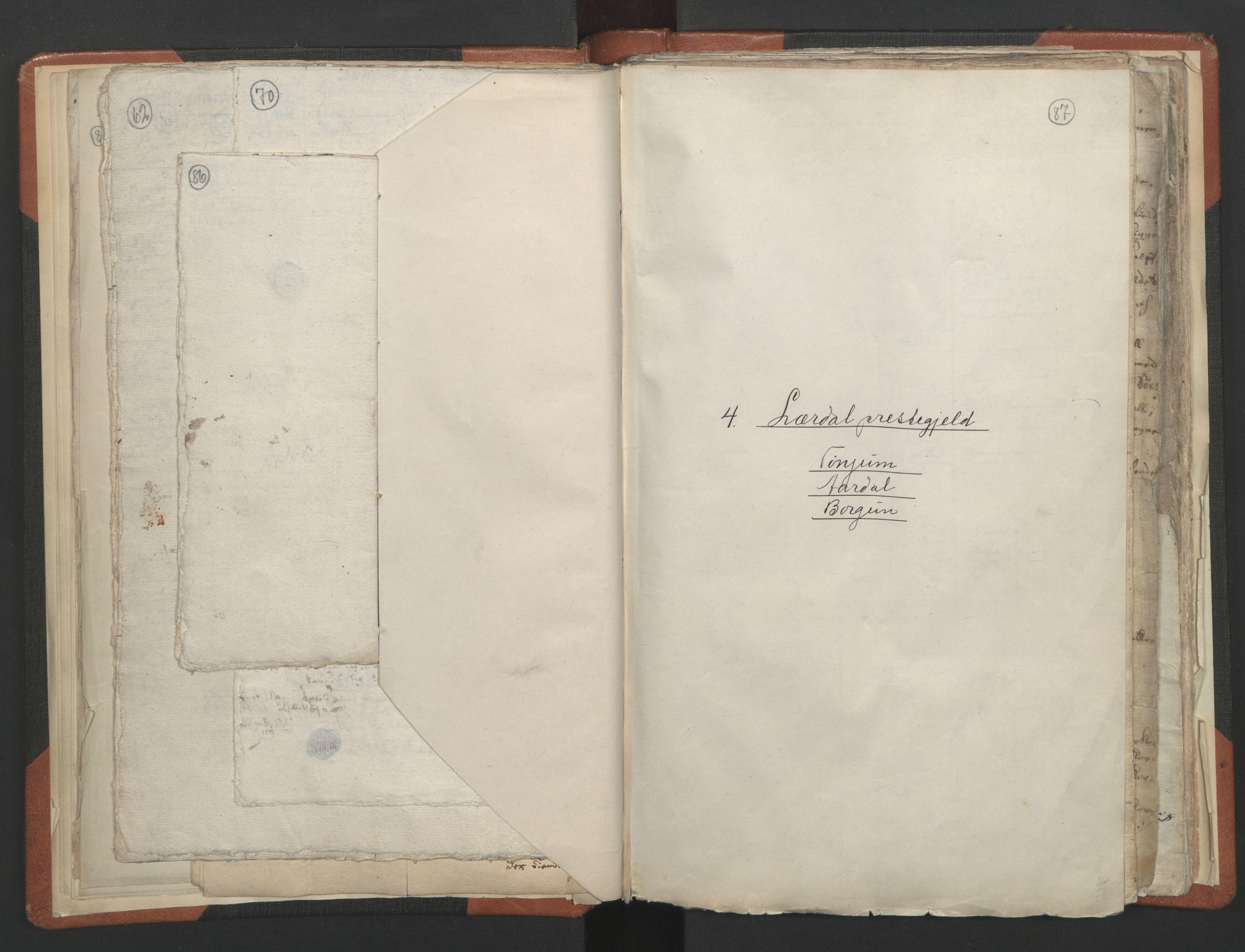 RA, Sogneprestenes manntall 1664-1666, nr. 23: Sogn prosti, 1664-1666, s. 86-87