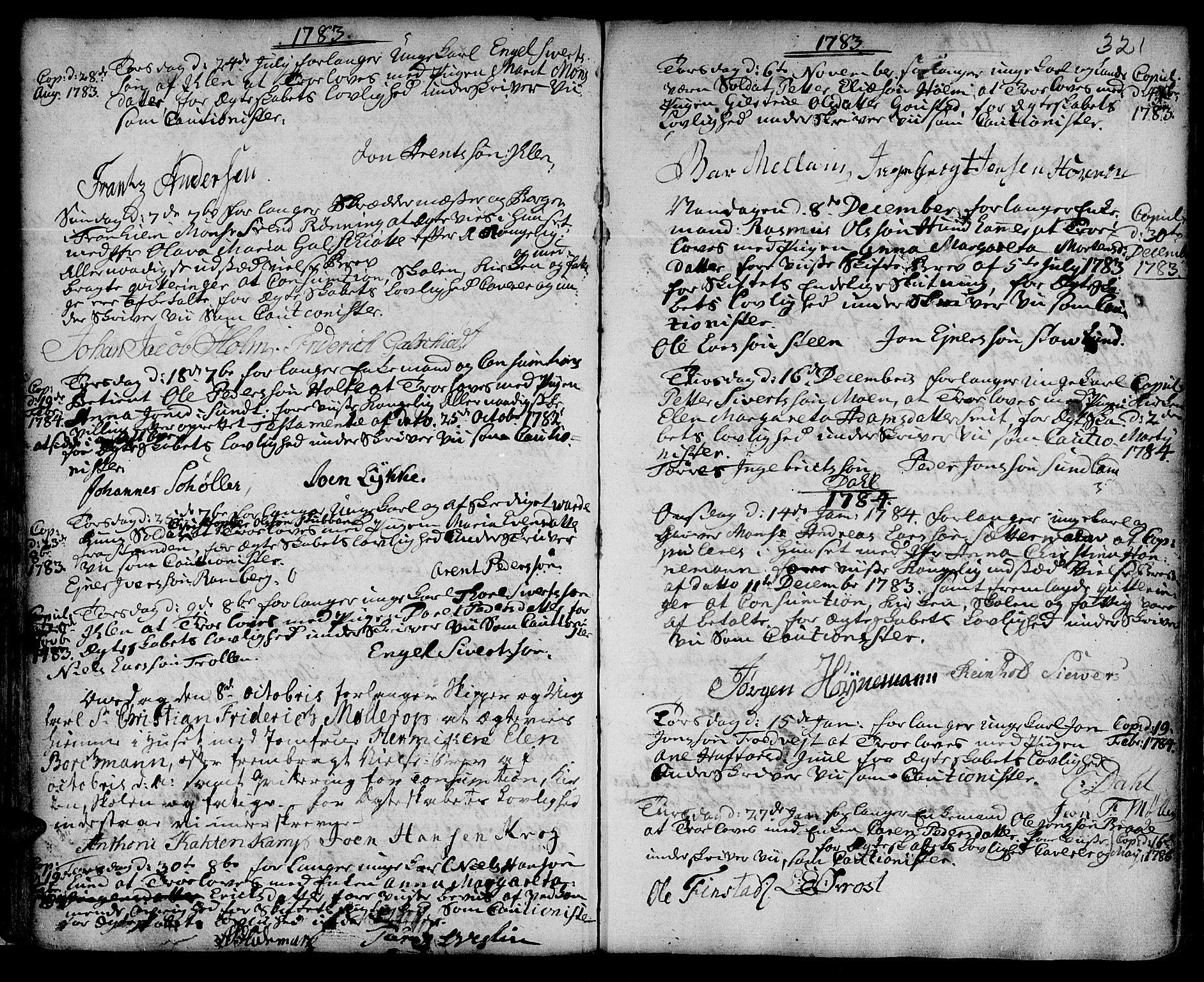 SAT, Ministerialprotokoller, klokkerbøker og fødselsregistre - Sør-Trøndelag, 601/L0038: Ministerialbok nr. 601A06, 1766-1877, s. 321