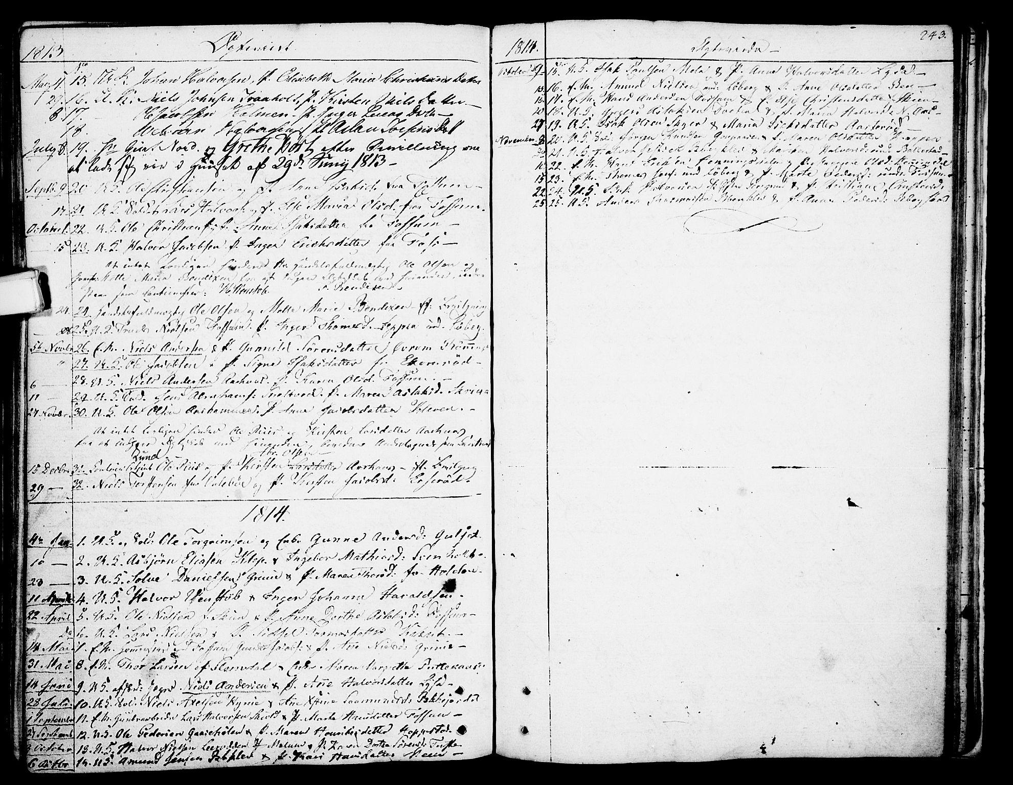 SAKO, Gjerpen kirkebøker, F/Fa/L0003: Ministerialbok nr. 3, 1796-1814, s. 243