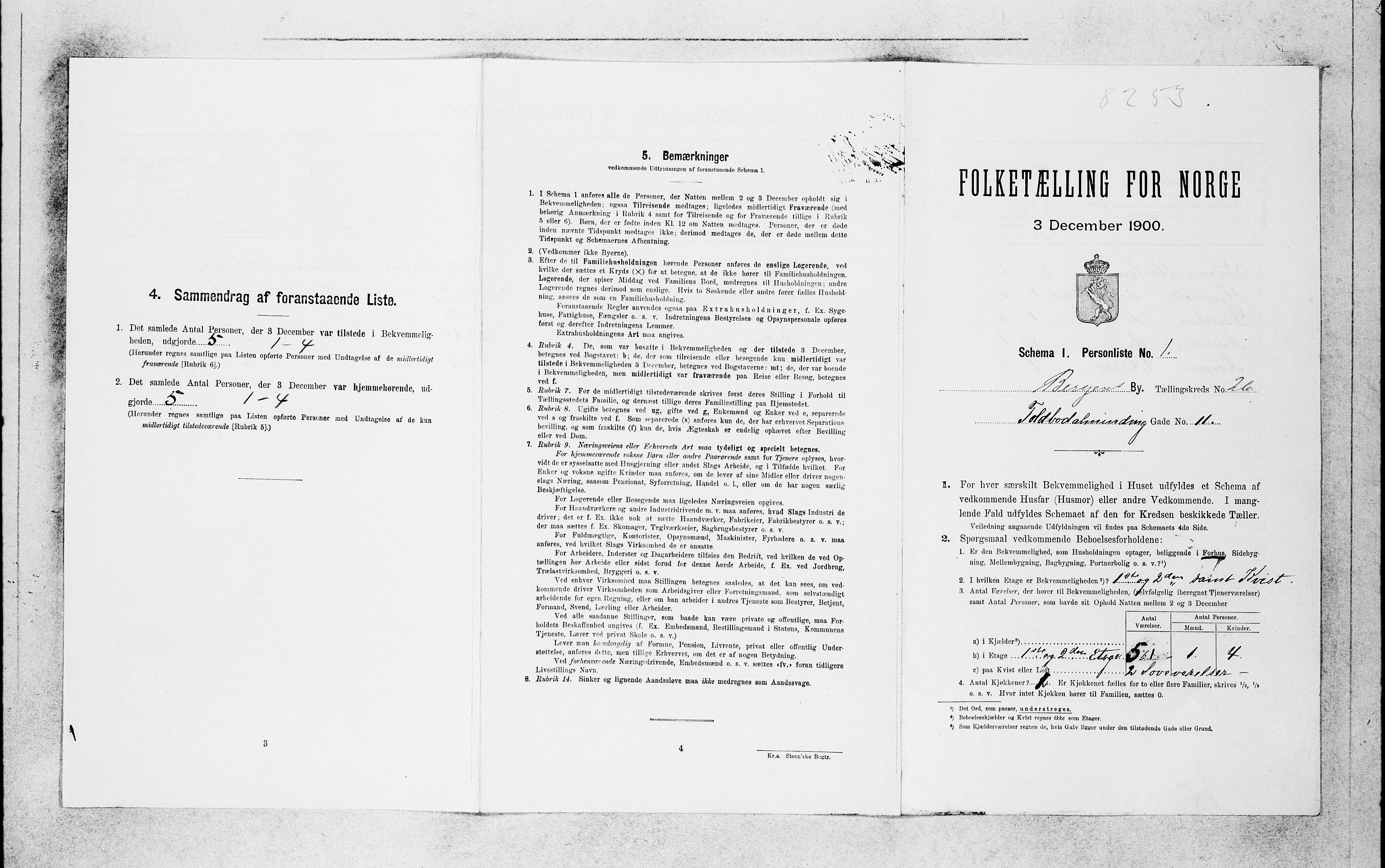 SAB, Folketelling 1900 for 1301 Bergen kjøpstad, 1900, s. 5422