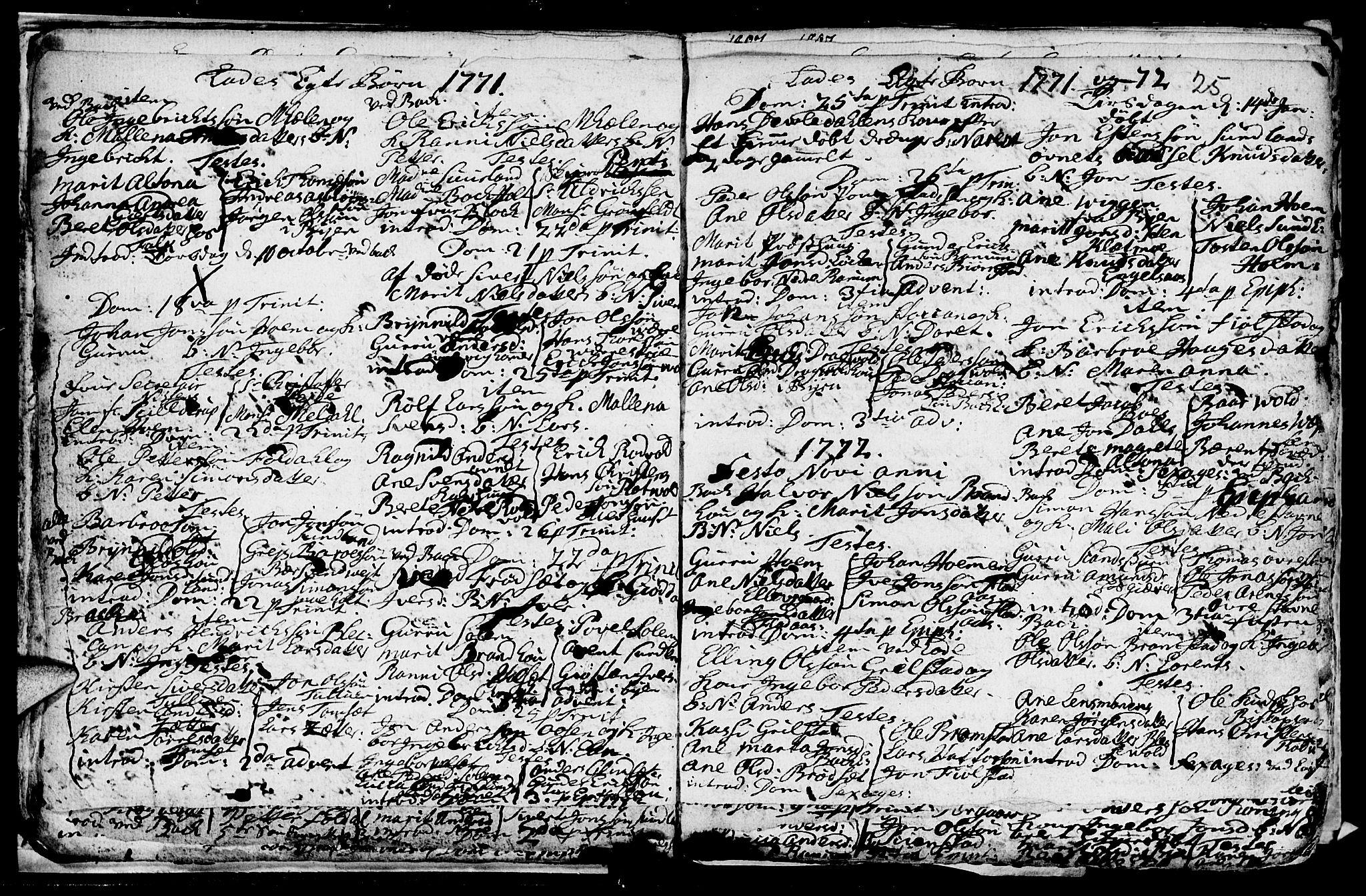 SAT, Ministerialprotokoller, klokkerbøker og fødselsregistre - Sør-Trøndelag, 606/L0305: Klokkerbok nr. 606C01, 1757-1819, s. 25