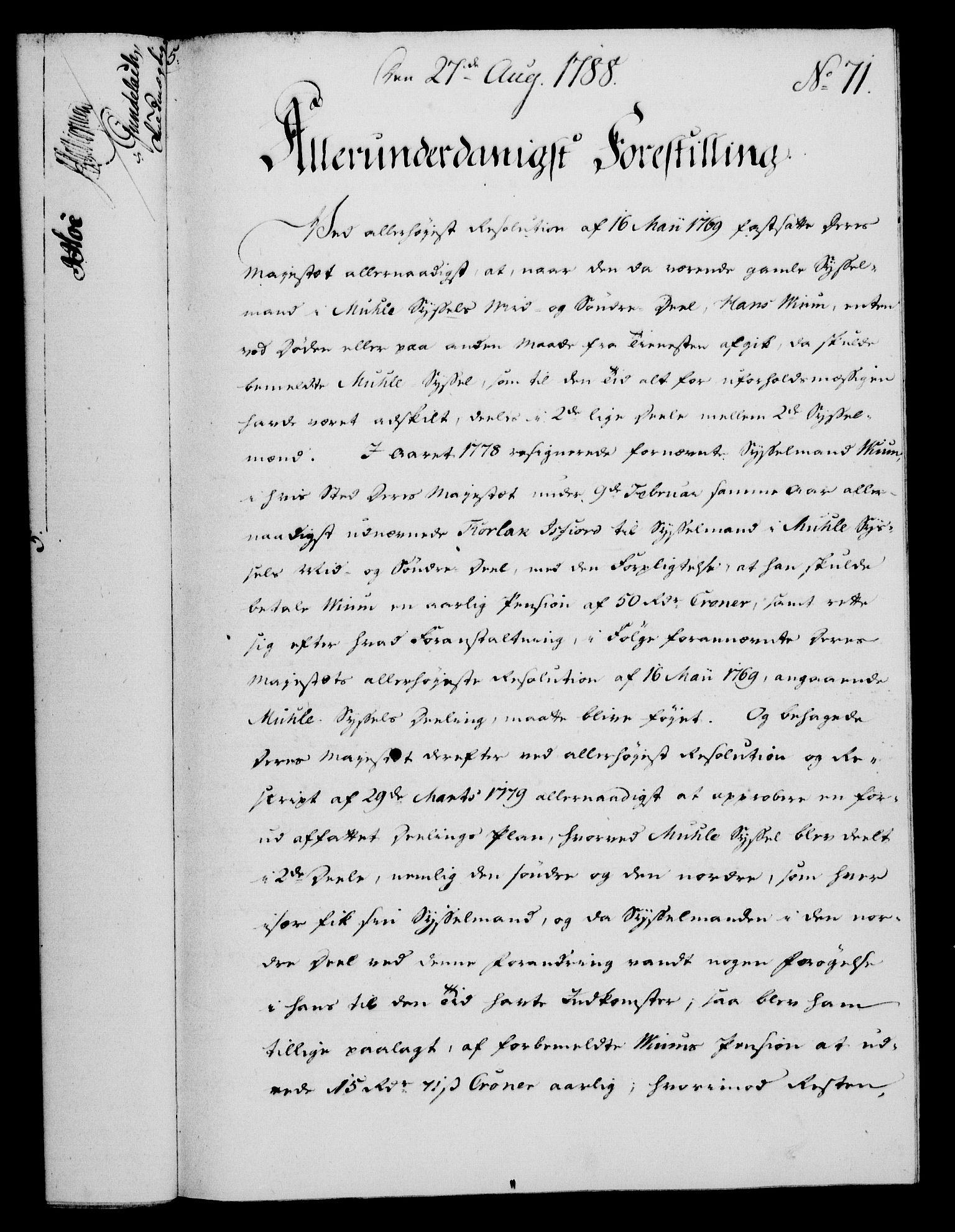 RA, Rentekammeret, Kammerkanselliet, G/Gf/Gfa/L0070: Norsk relasjons- og resolusjonsprotokoll (merket RK 52.70), 1788, s. 444