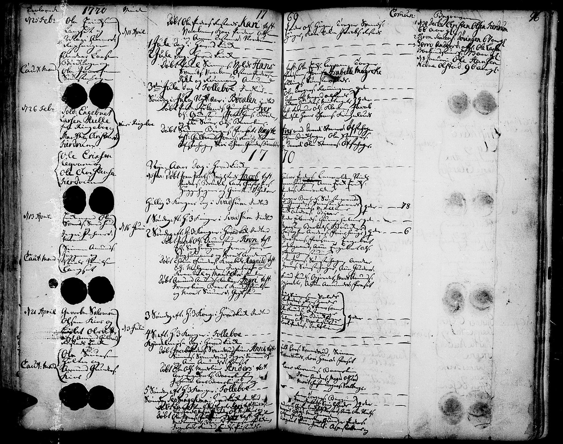 SAH, Gausdal prestekontor, Ministerialbok nr. 3, 1758-1809, s. 96