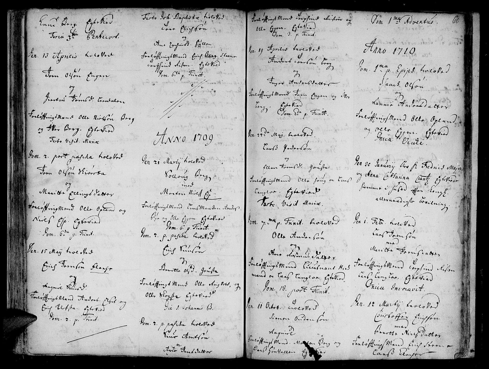 SAT, Ministerialprotokoller, klokkerbøker og fødselsregistre - Sør-Trøndelag, 612/L0368: Ministerialbok nr. 612A02, 1702-1753, s. 60
