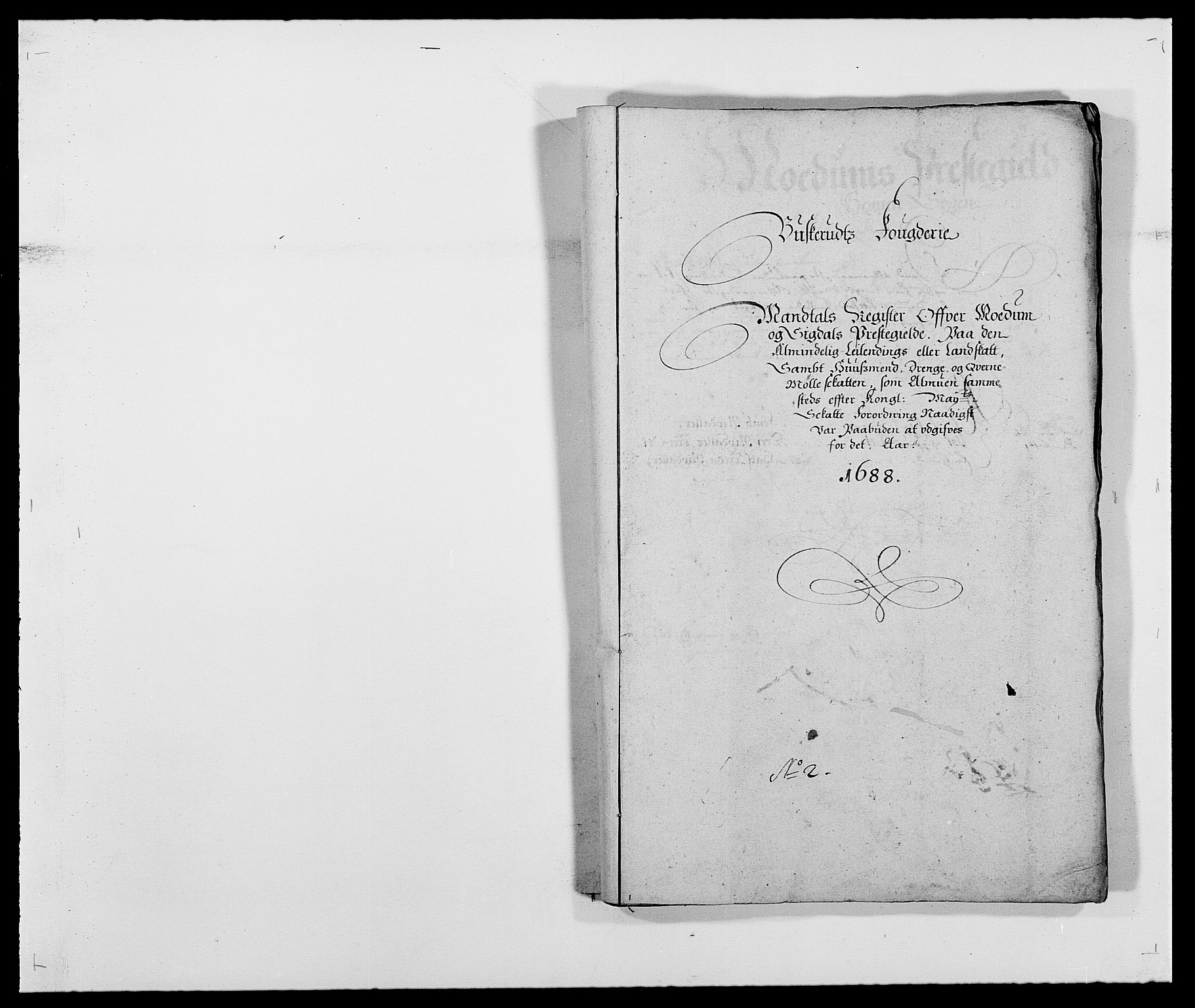 RA, Rentekammeret inntil 1814, Reviderte regnskaper, Fogderegnskap, R25/L1679: Fogderegnskap Buskerud, 1687-1688, s. 302