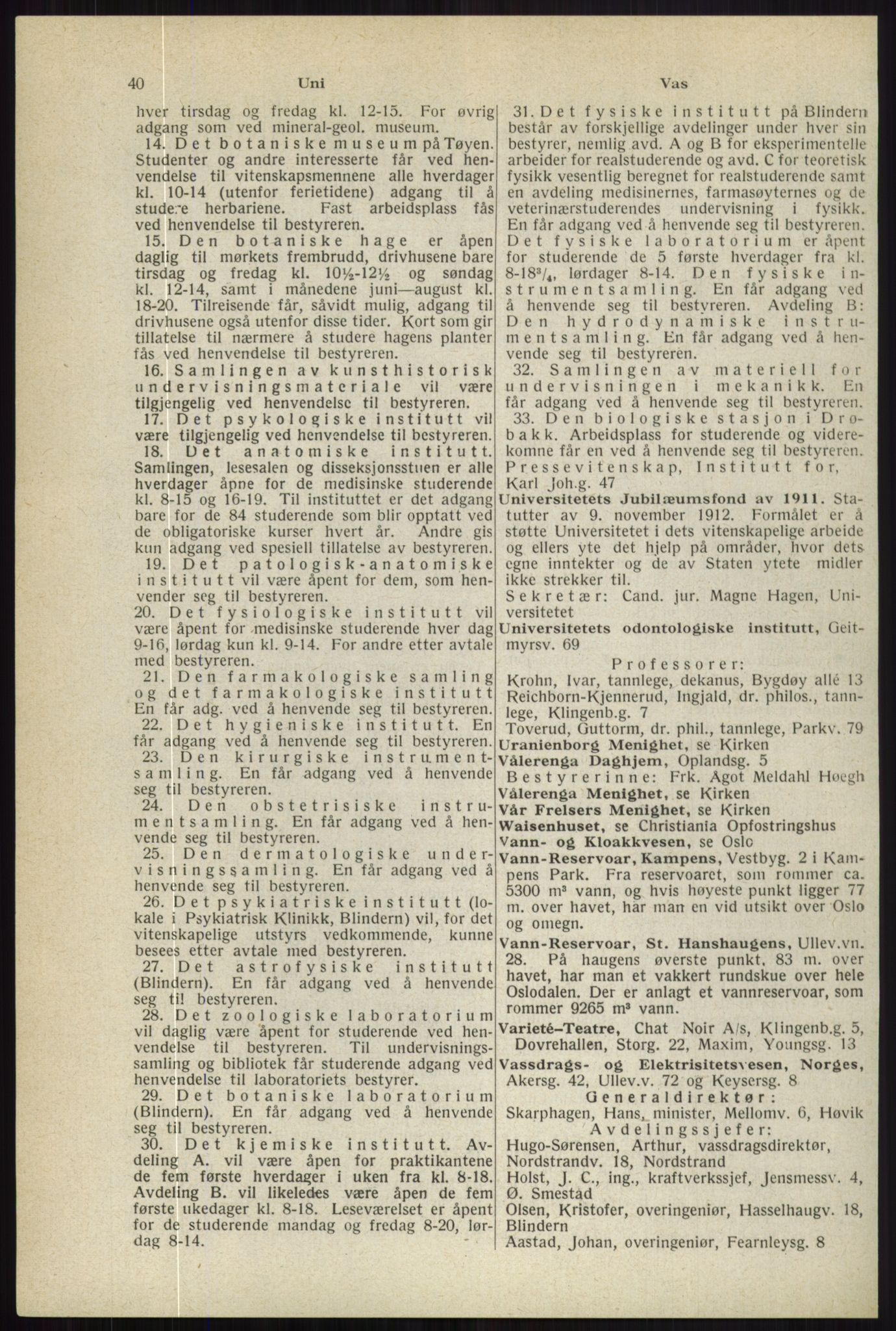 RA, Oslo adressebok (publikasjon)*, 1944, s. 40