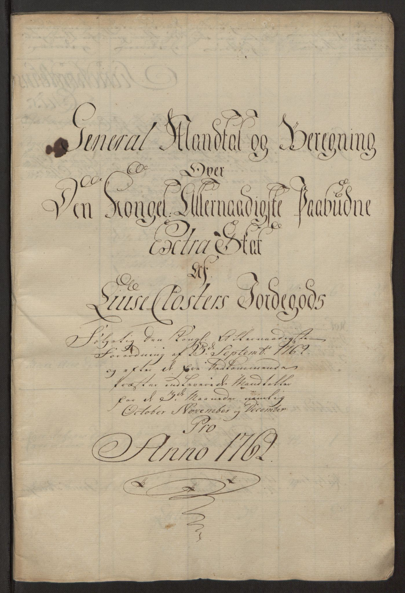 RA, Rentekammeret inntil 1814, Reviderte regnskaper, Fogderegnskap, R50/L3180: Ekstraskatten Lyse kloster, 1762-1783, s. 10