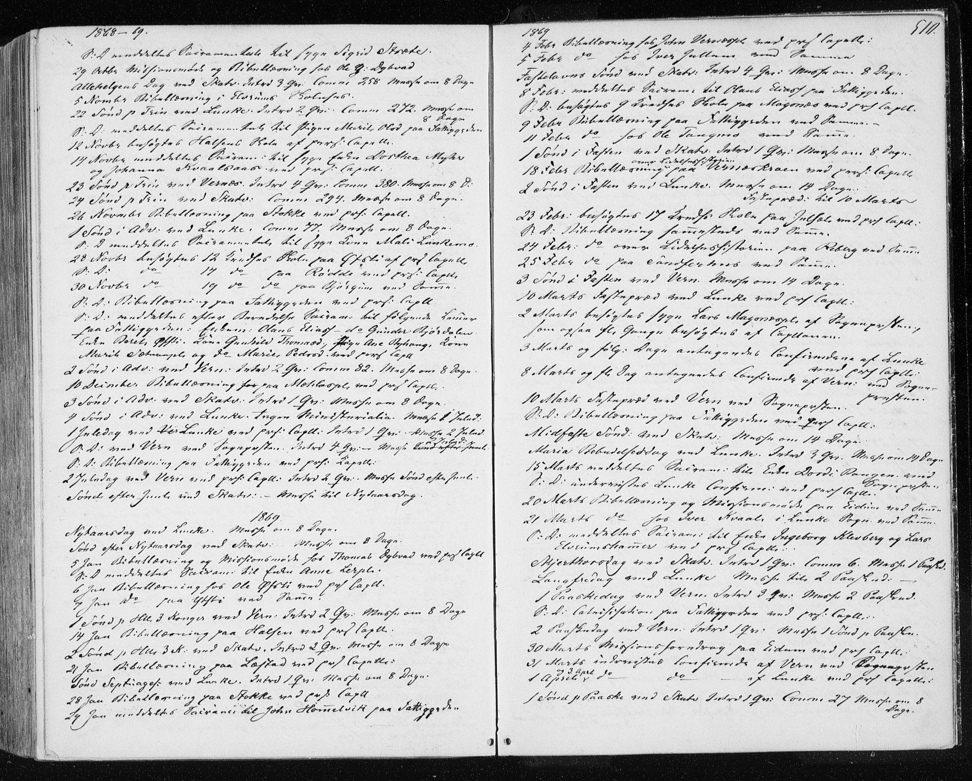 SAT, Ministerialprotokoller, klokkerbøker og fødselsregistre - Nord-Trøndelag, 709/L0075: Ministerialbok nr. 709A15, 1859-1870, s. 510