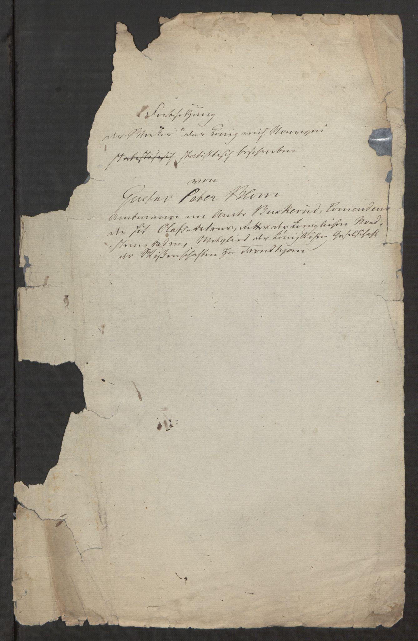 RA, Blom, Gustav Peter, F/L0001: Brev og manuskripter, 1814, s. 3