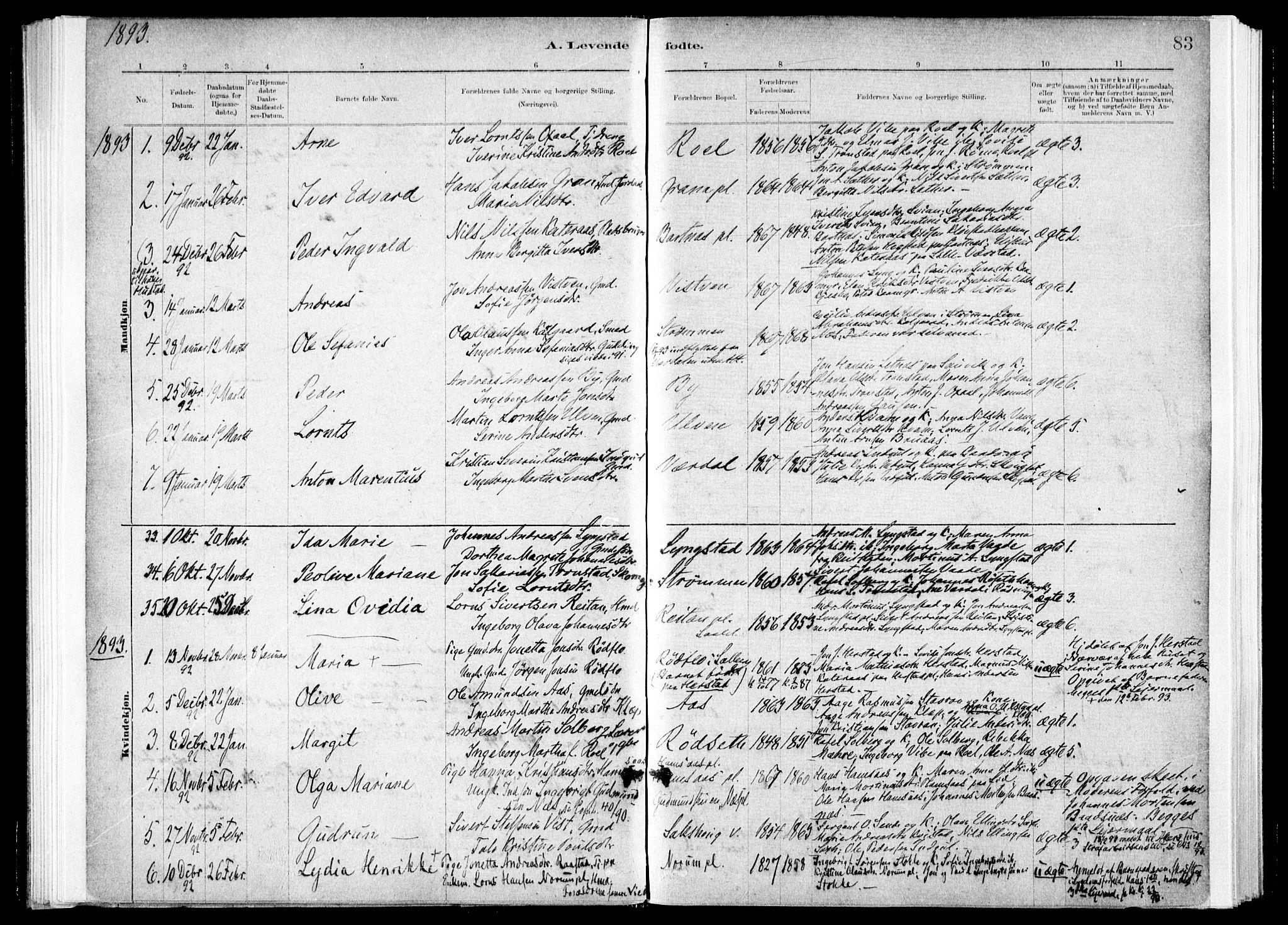 SAT, Ministerialprotokoller, klokkerbøker og fødselsregistre - Nord-Trøndelag, 730/L0285: Ministerialbok nr. 730A10, 1879-1914, s. 83