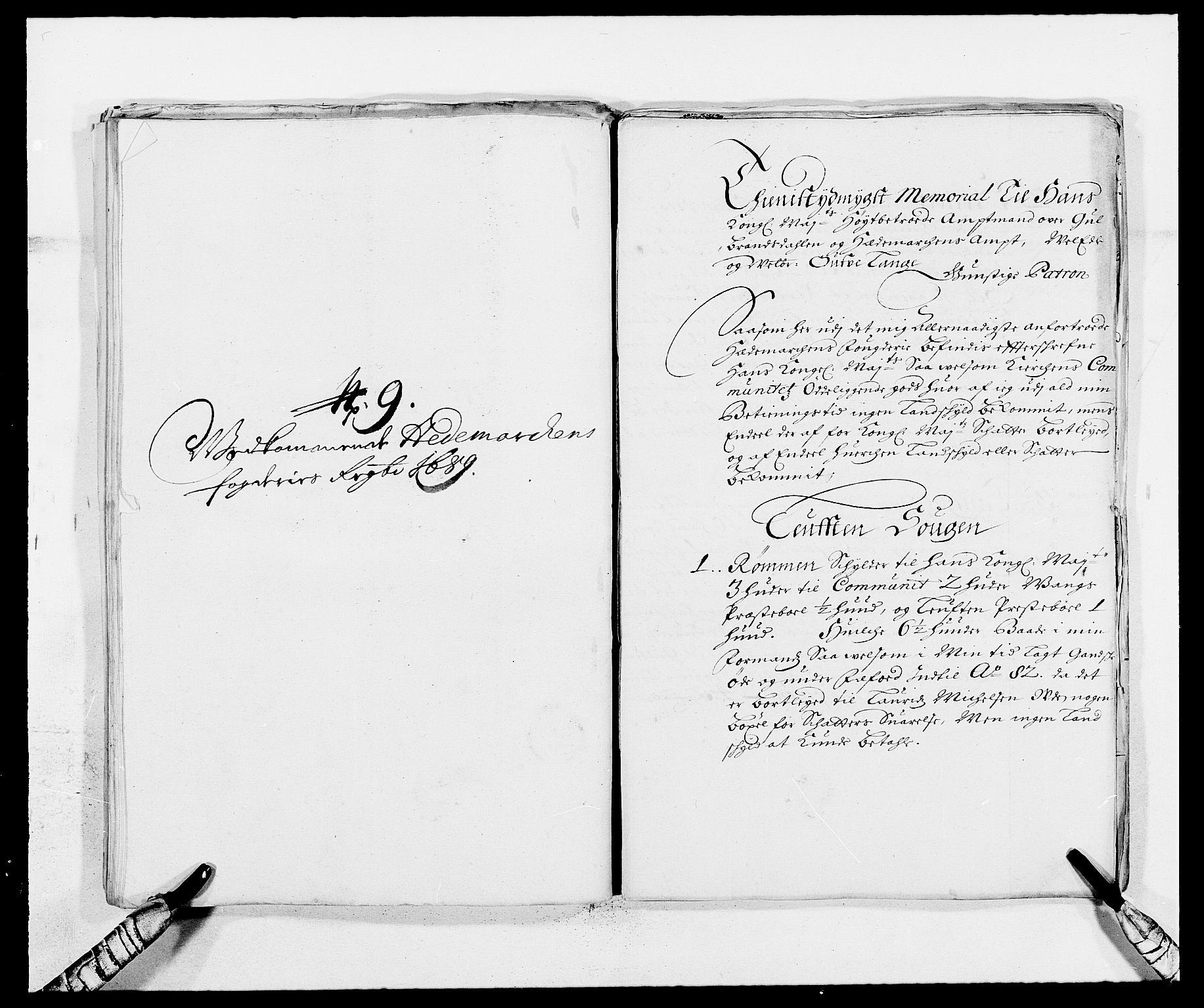 RA, Rentekammeret inntil 1814, Reviderte regnskaper, Fogderegnskap, R16/L1031: Fogderegnskap Hedmark, 1689-1692, s. 207