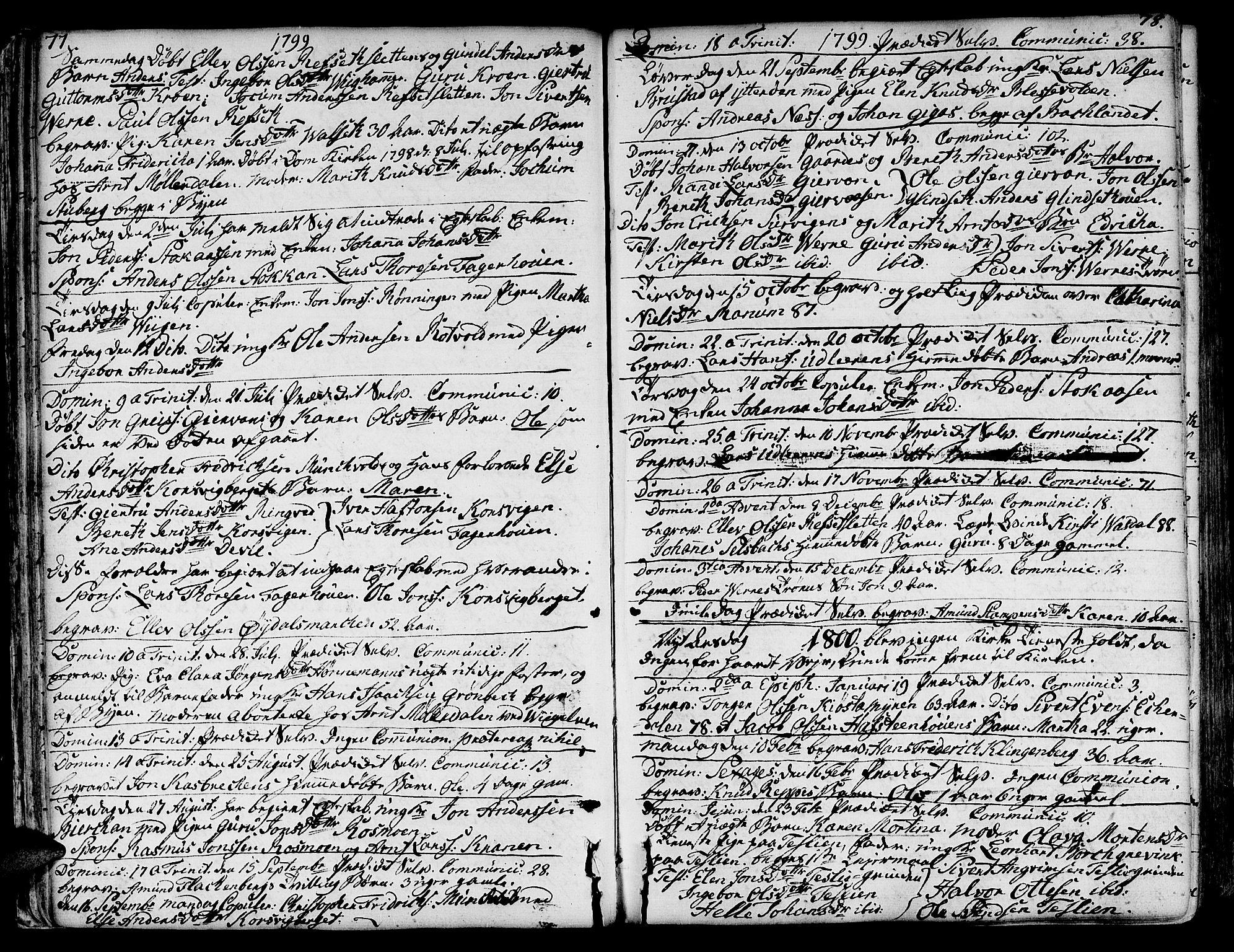 SAT, Ministerialprotokoller, klokkerbøker og fødselsregistre - Sør-Trøndelag, 606/L0280: Ministerialbok nr. 606A02 /1, 1781-1817, s. 77-78