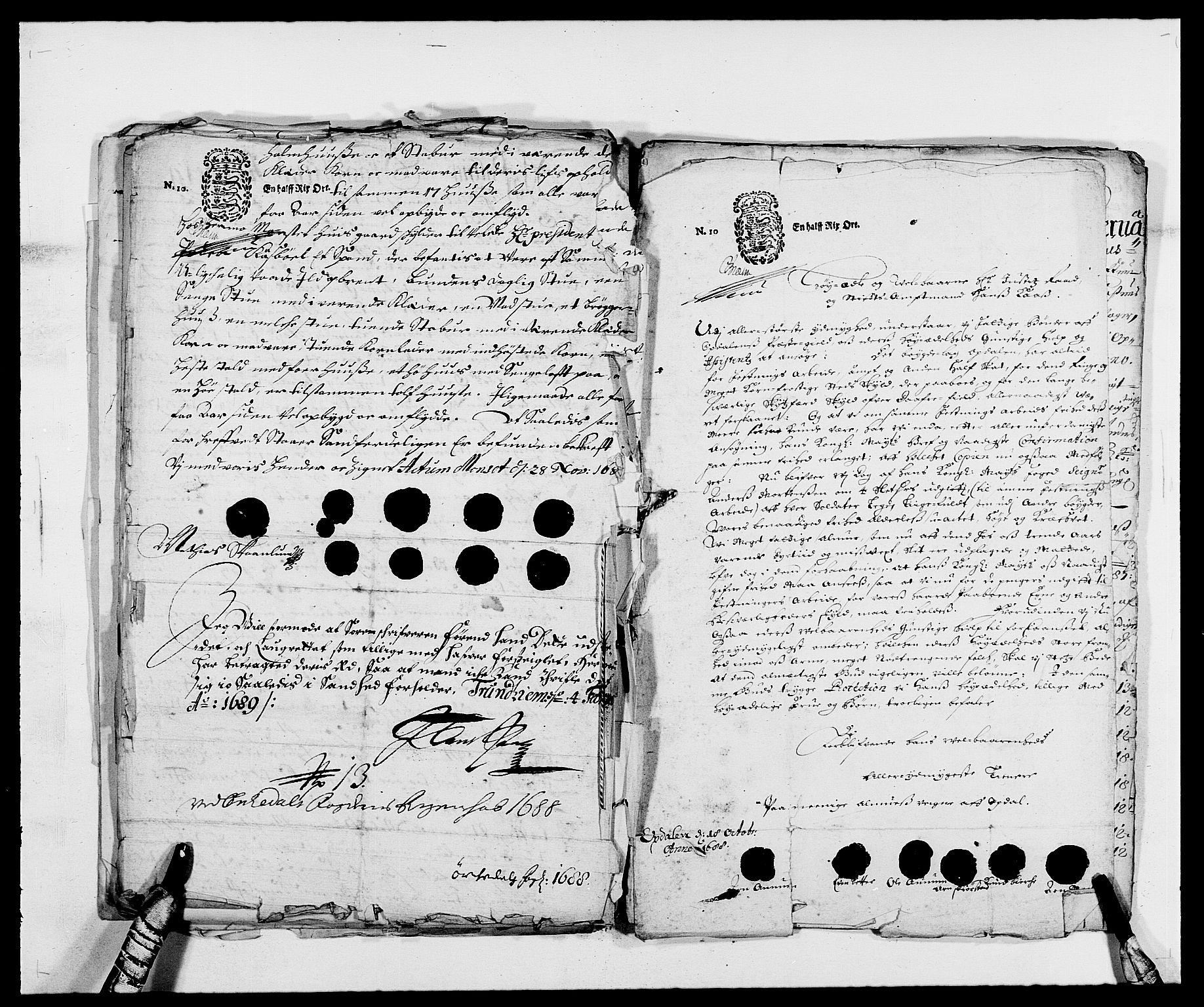 RA, Rentekammeret inntil 1814, Reviderte regnskaper, Fogderegnskap, R58/L3935: Fogderegnskap Orkdal, 1687-1688, s. 386