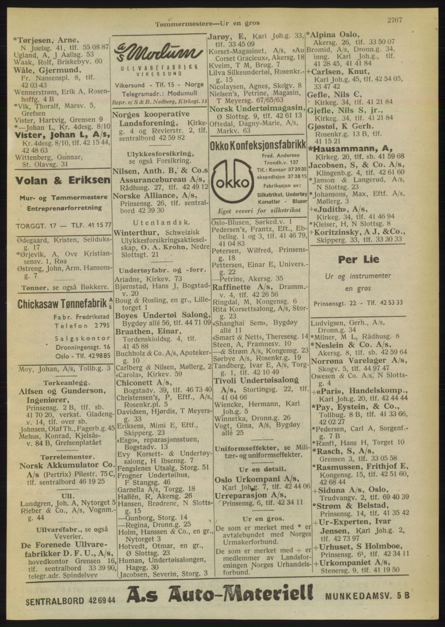 RA, Oslo adressebok (publikasjon)*, 1949, s. 2767