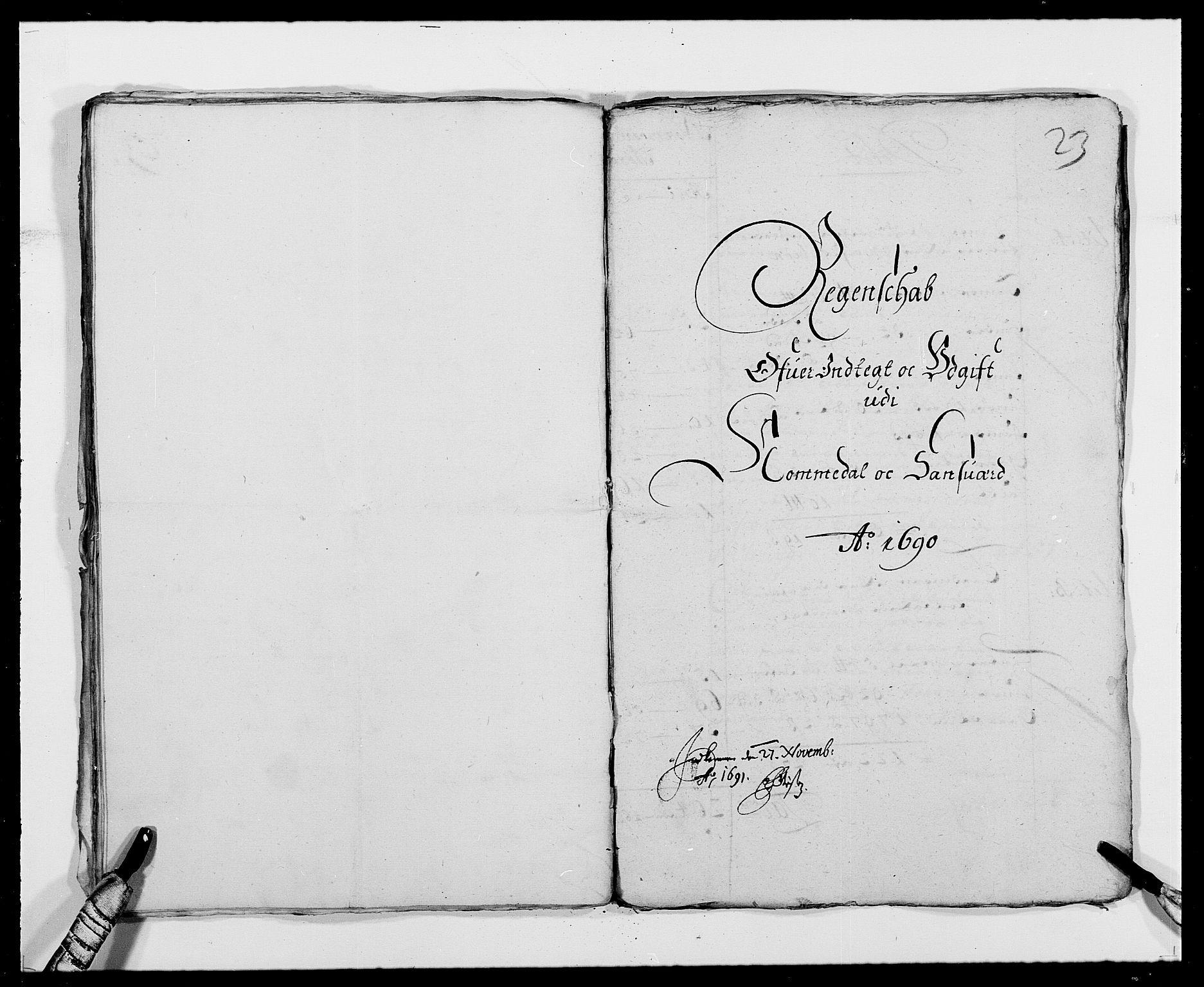 RA, Rentekammeret inntil 1814, Reviderte regnskaper, Fogderegnskap, R24/L1573: Fogderegnskap Numedal og Sandsvær, 1687-1691, s. 245