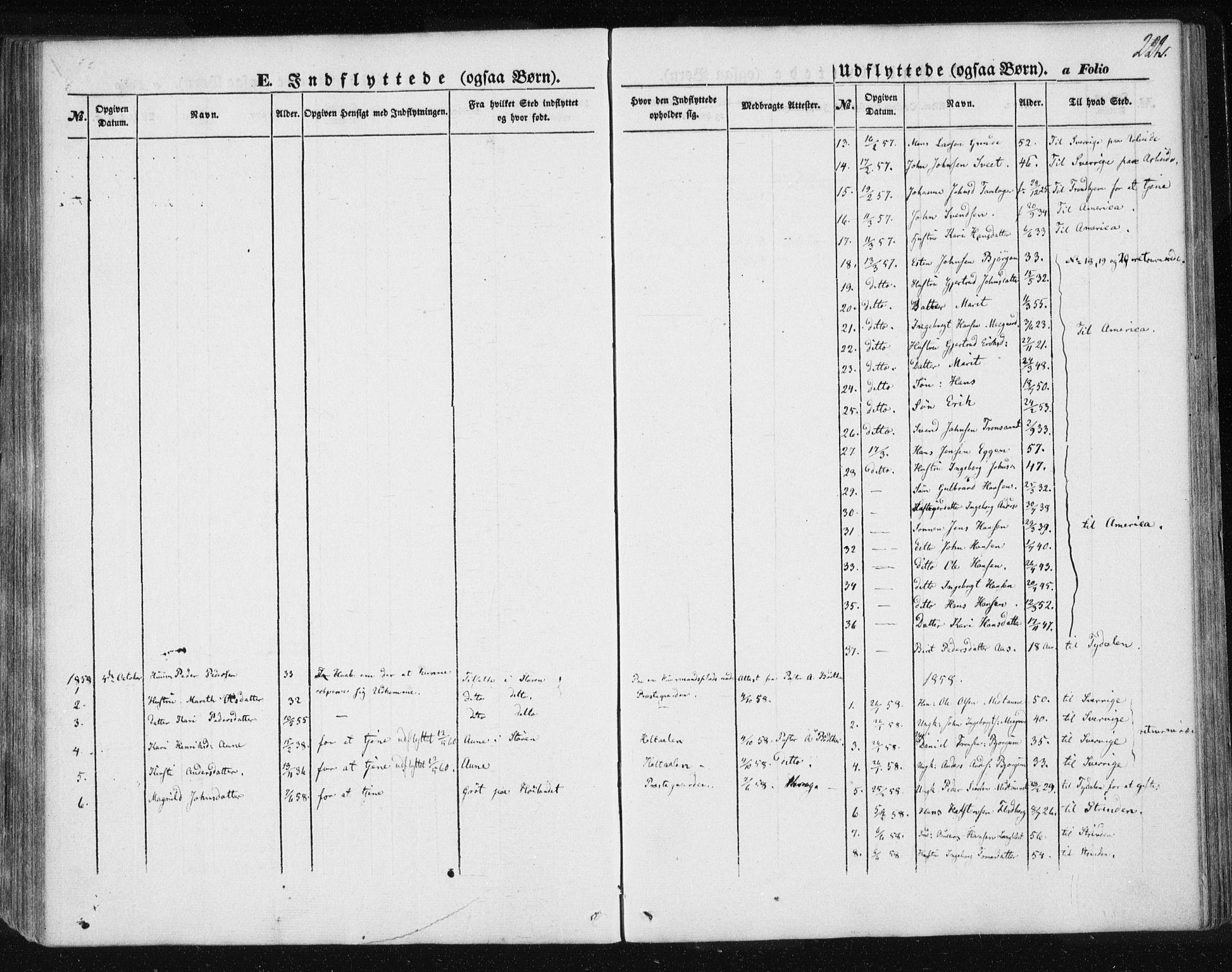 SAT, Ministerialprotokoller, klokkerbøker og fødselsregistre - Sør-Trøndelag, 685/L0963: Ministerialbok nr. 685A06 /1, 1846-1859, s. 222