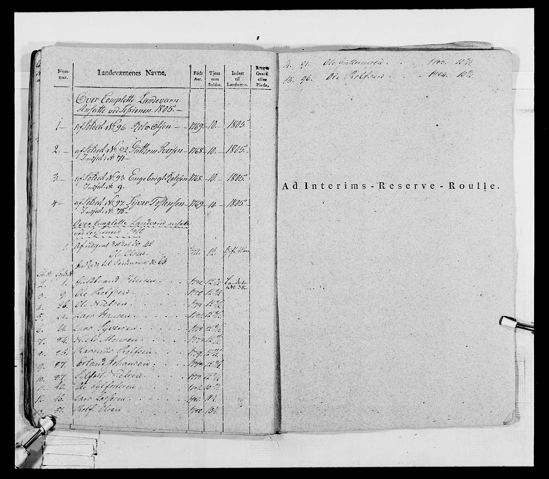 RA, Generalitets- og kommissariatskollegiet, Det kongelige norske kommissariatskollegium, E/Eh/L0069: Opplandske gevorbne infanteriregiment, 1810-1818, s. 197