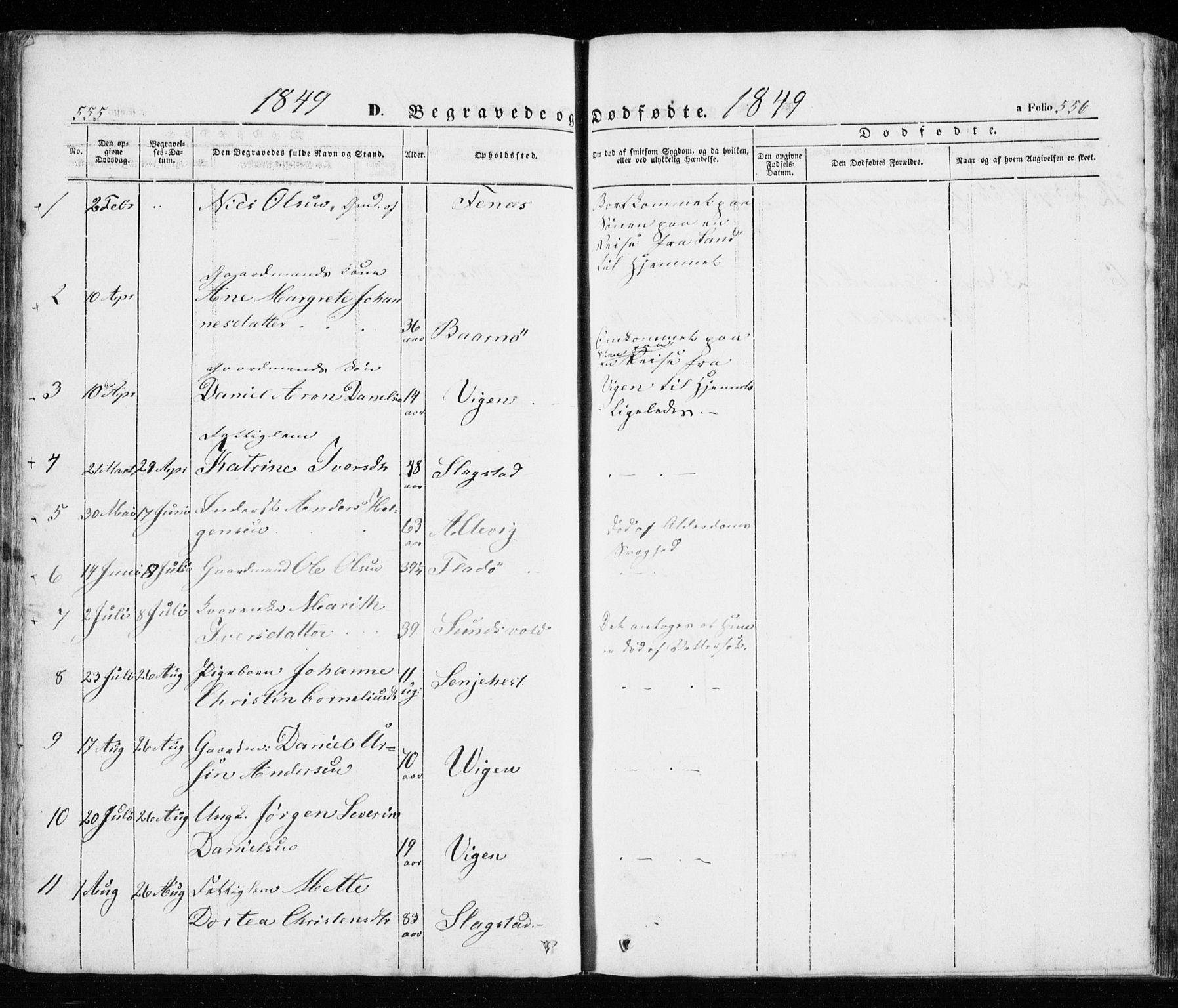 SATØ, Trondenes sokneprestkontor, H/Ha/L0010kirke: Ministerialbok nr. 10, 1840-1865, s. 555-556