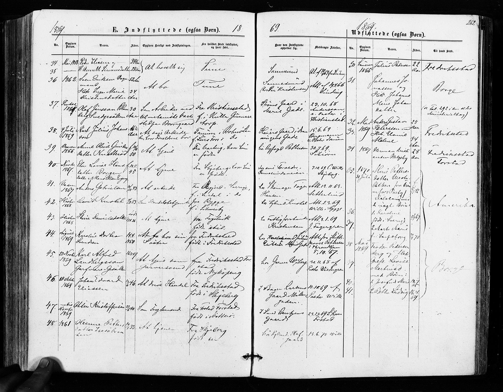 SAO, Sarpsborg prestekontor Kirkebøker, F/Fa/L0002: Ministerialbok nr. 2, 1869-1877, s. 262