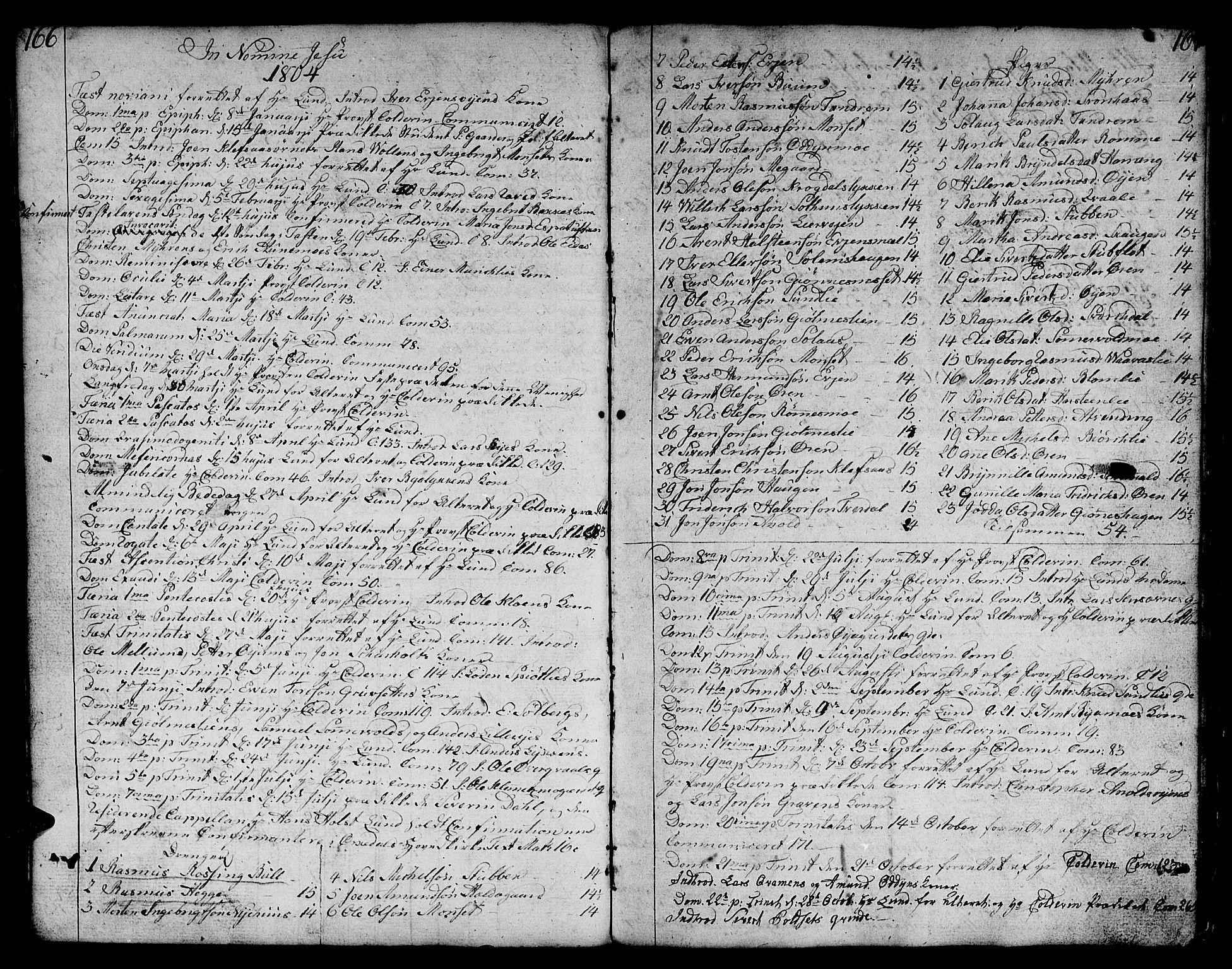 SAT, Ministerialprotokoller, klokkerbøker og fødselsregistre - Sør-Trøndelag, 668/L0815: Klokkerbok nr. 668C04, 1791-1815, s. 166-167