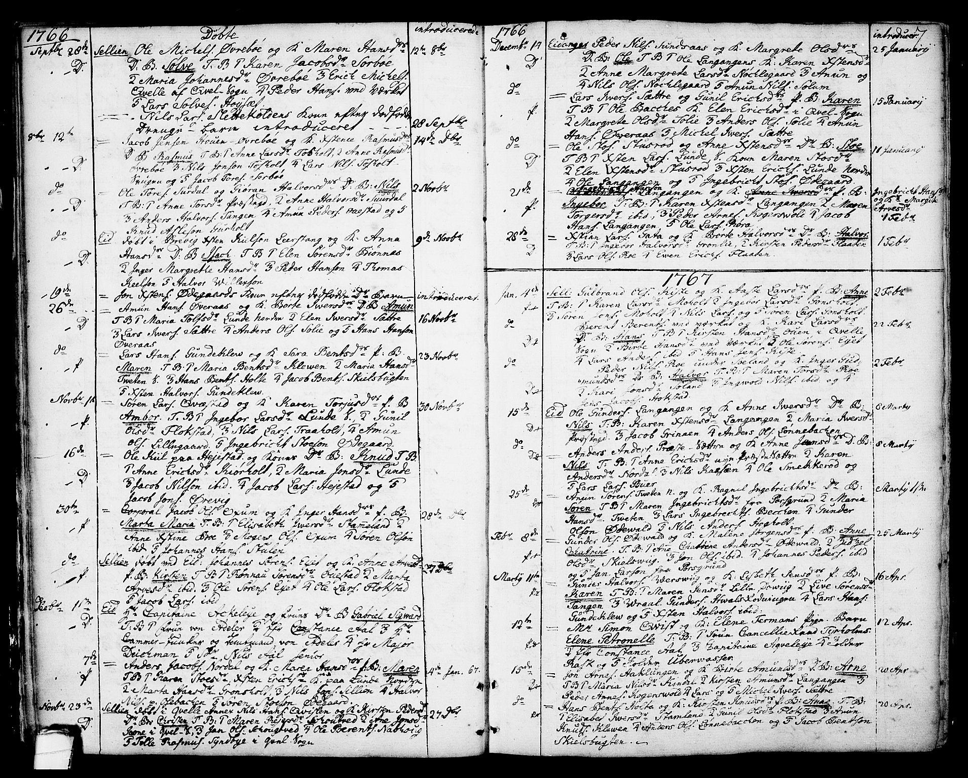 SAKO, Eidanger kirkebøker, F/Fa/L0006: Ministerialbok nr. 6, 1764-1814, s. 7