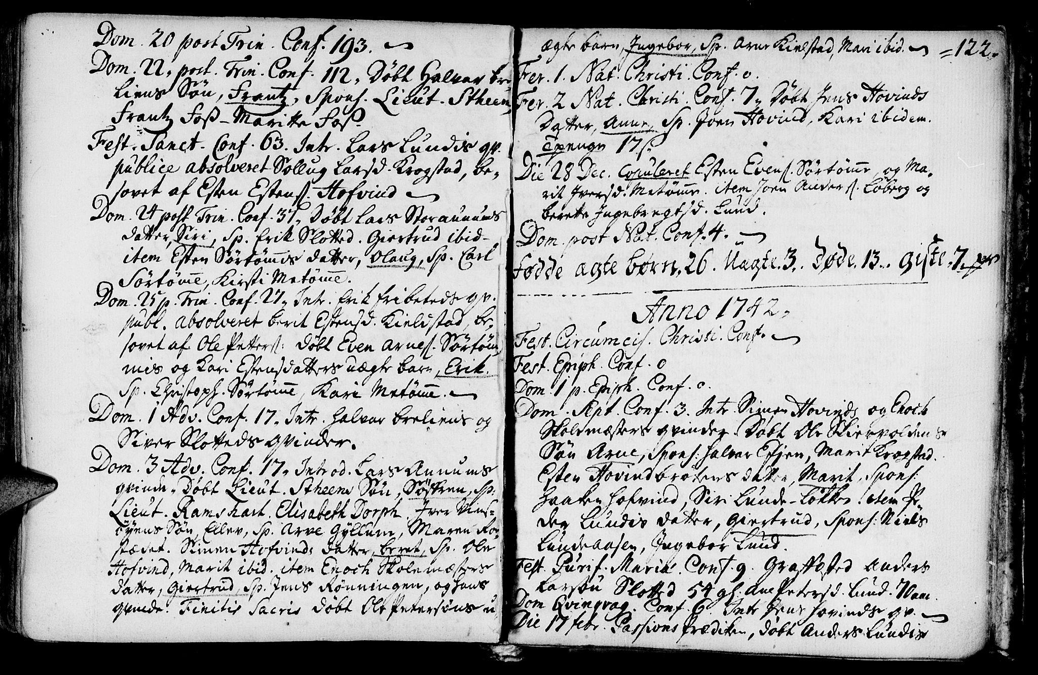 SAT, Ministerialprotokoller, klokkerbøker og fødselsregistre - Sør-Trøndelag, 692/L1101: Ministerialbok nr. 692A01, 1690-1746, s. 122