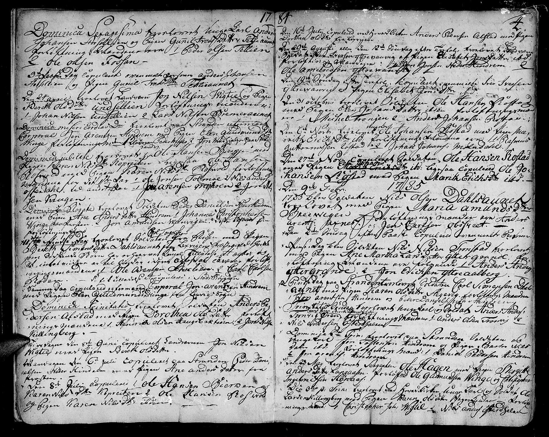 SAT, Ministerialprotokoller, klokkerbøker og fødselsregistre - Nord-Trøndelag, 701/L0004: Ministerialbok nr. 701A04, 1783-1816, s. 4
