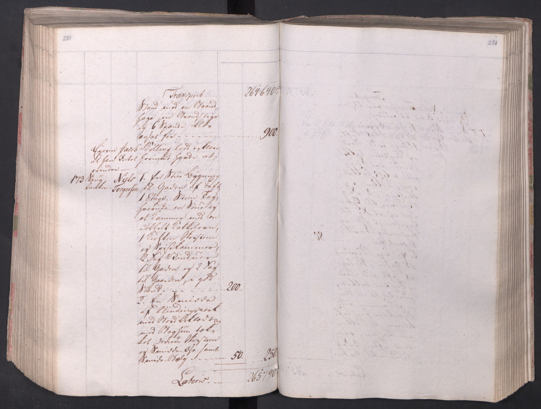 SAO, Kristiania stiftamt, I/Ia/L0015: Branntakster, 1797, s. 281