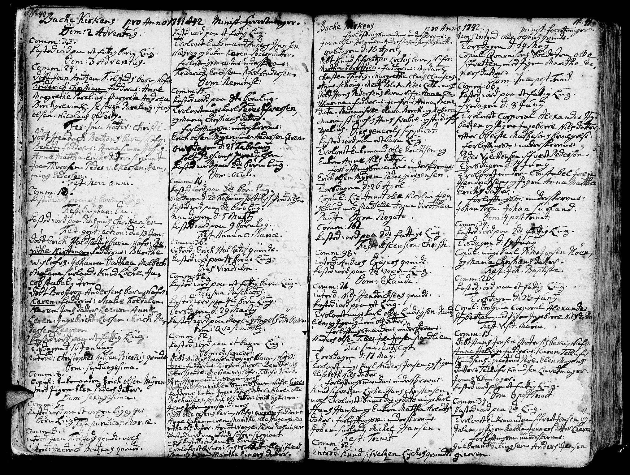 SAT, Ministerialprotokoller, klokkerbøker og fødselsregistre - Sør-Trøndelag, 606/L0276: Ministerialbok nr. 606A01 /2, 1727-1779, s. 40-41