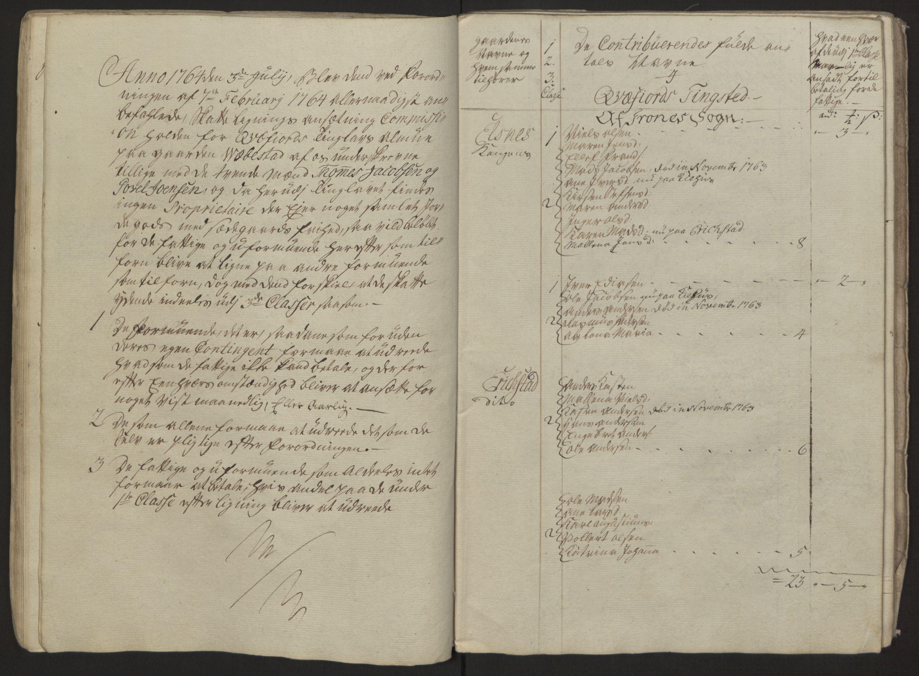 RA, Rentekammeret inntil 1814, Reviderte regnskaper, Fogderegnskap, R68/L4845: Ekstraskatten Senja og Troms, 1762-1765, s. 288