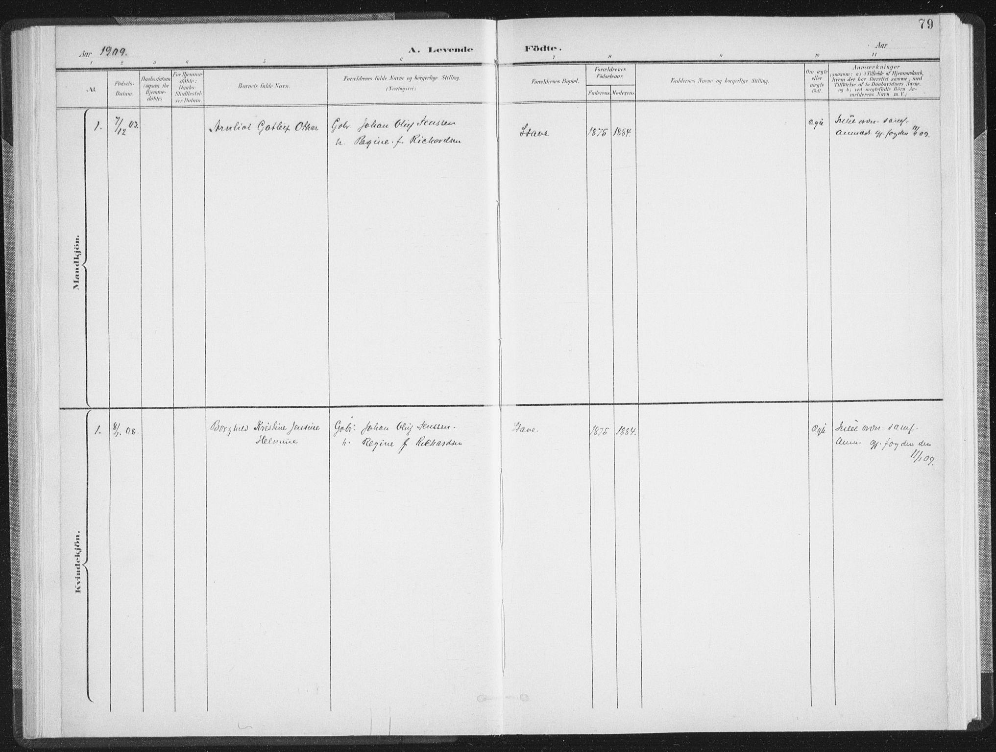 SAT, Ministerialprotokoller, klokkerbøker og fødselsregistre - Nordland, 897/L1400: Ministerialbok nr. 897A07, 1897-1908, s. 79