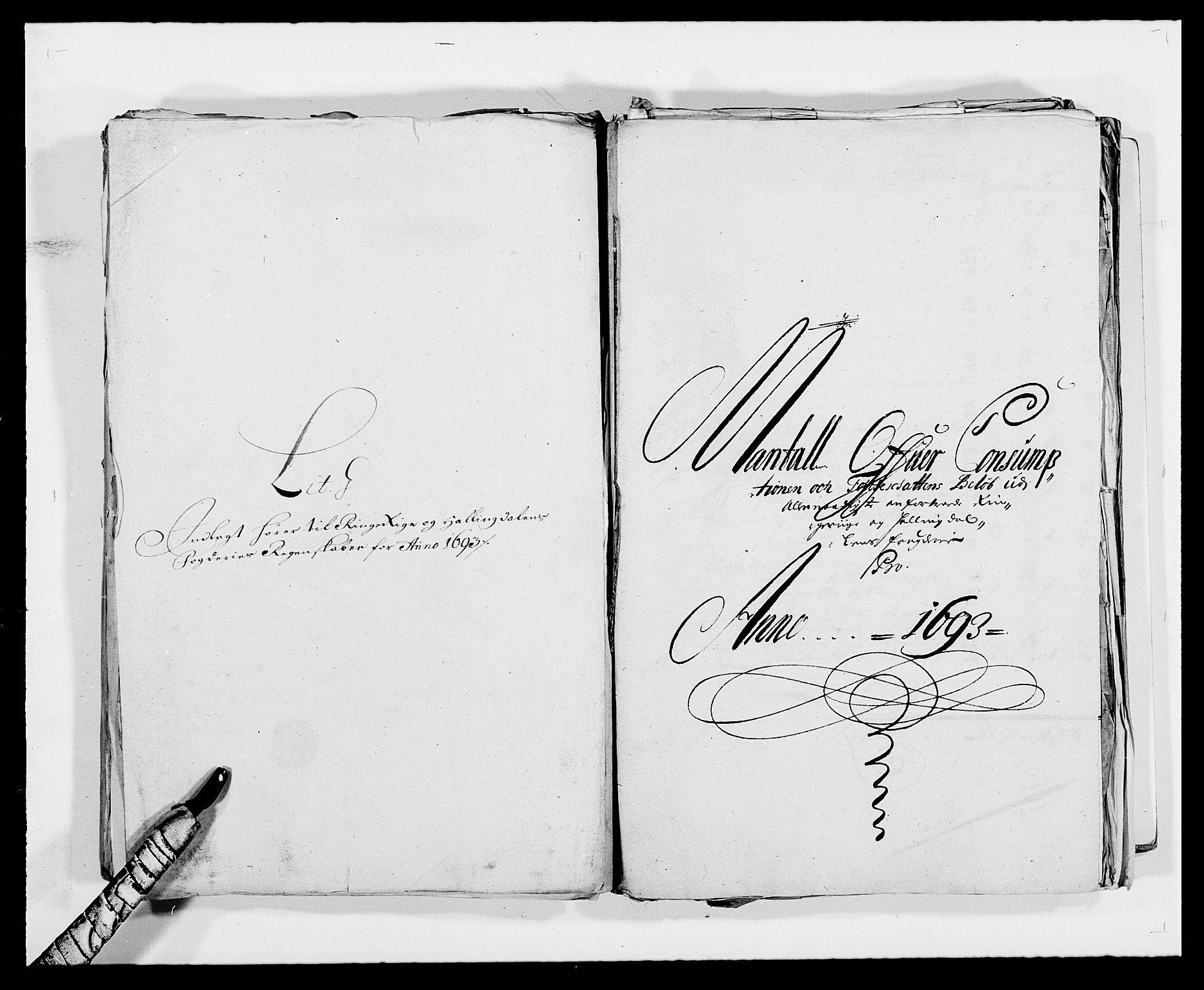 RA, Rentekammeret inntil 1814, Reviderte regnskaper, Fogderegnskap, R21/L1450: Fogderegnskap Ringerike og Hallingdal, 1693, s. 108