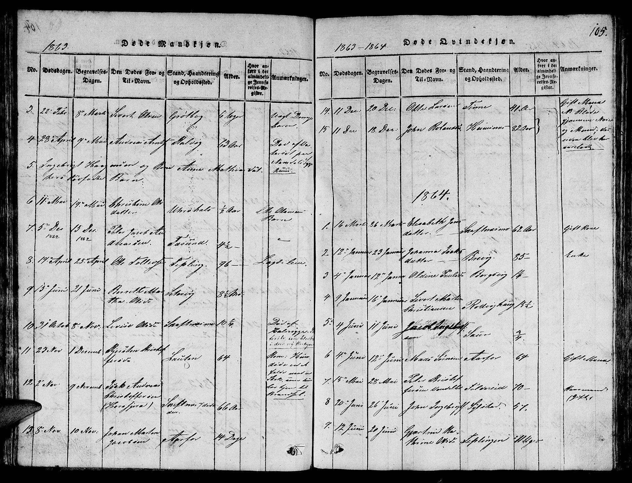 SAT, Ministerialprotokoller, klokkerbøker og fødselsregistre - Nord-Trøndelag, 780/L0648: Klokkerbok nr. 780C01 /3, 1815-1877, s. 105