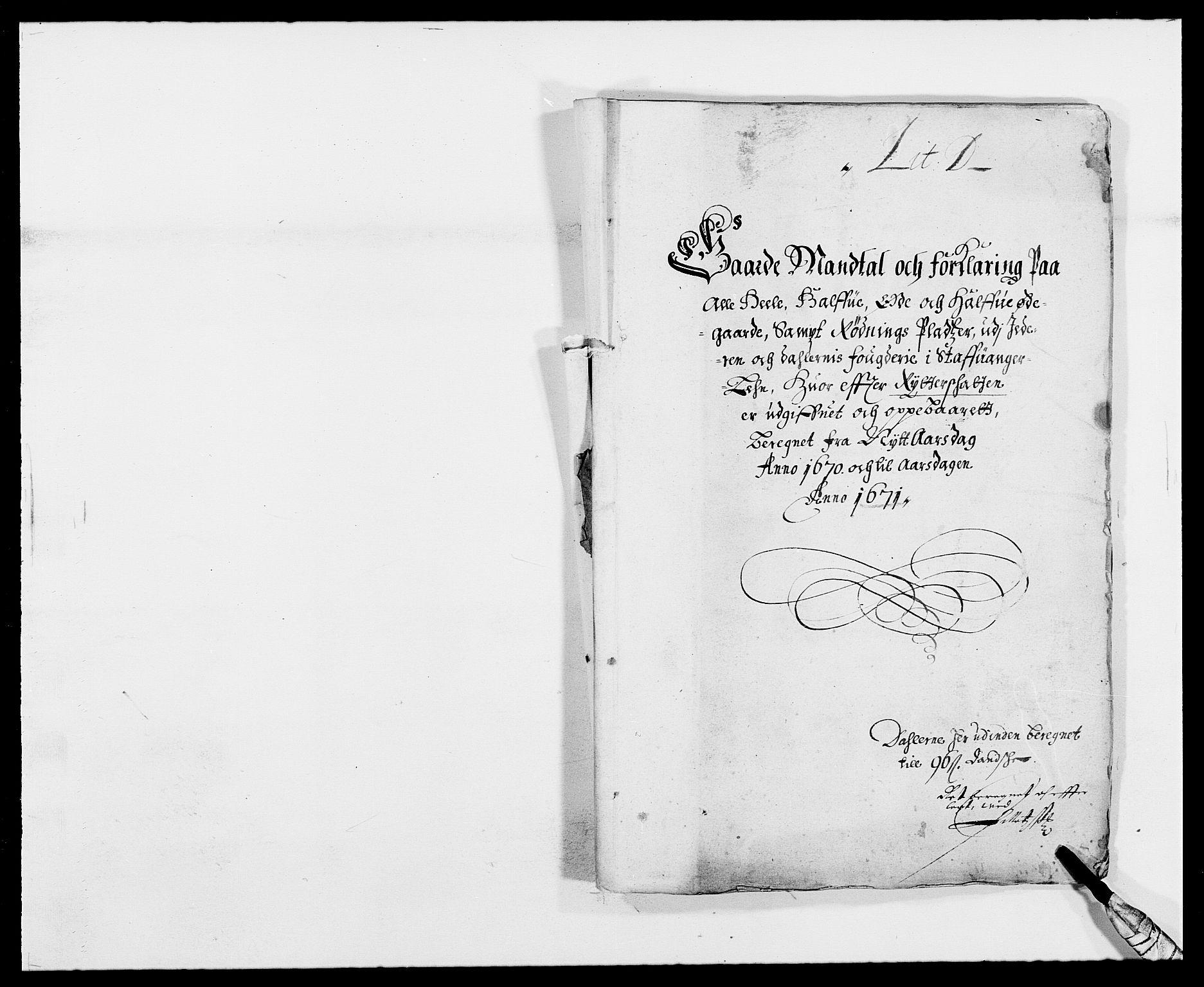RA, Rentekammeret inntil 1814, Reviderte regnskaper, Fogderegnskap, R46/L2712: Fogderegnskap Jæren og Dalane, 1670-1671, s. 80