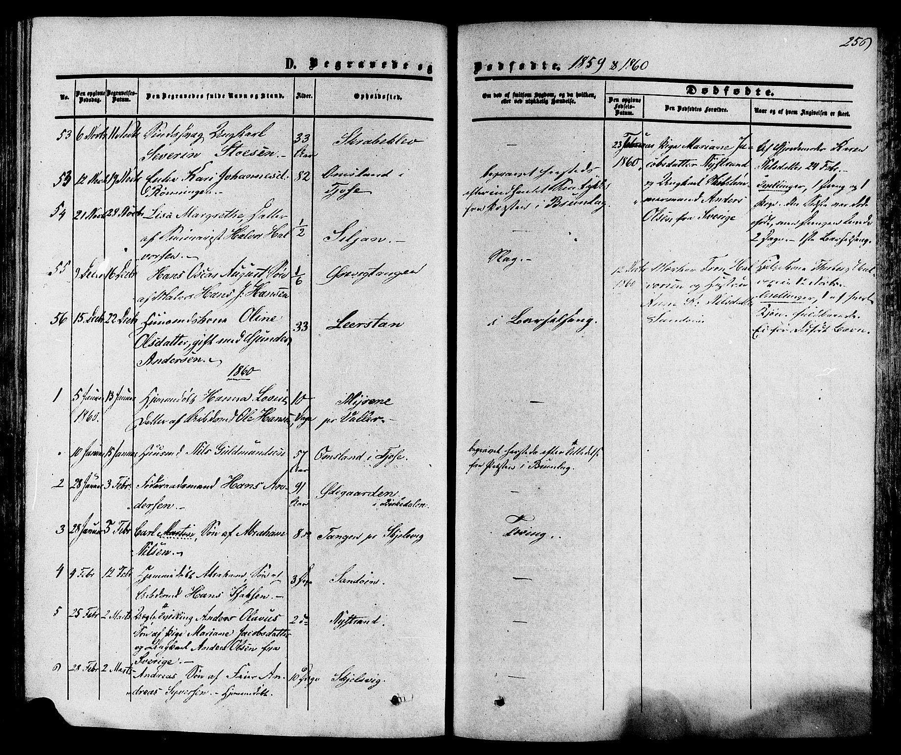 SAKO, Eidanger kirkebøker, F/Fa/L0010: Ministerialbok nr. 10, 1859-1874, s. 256