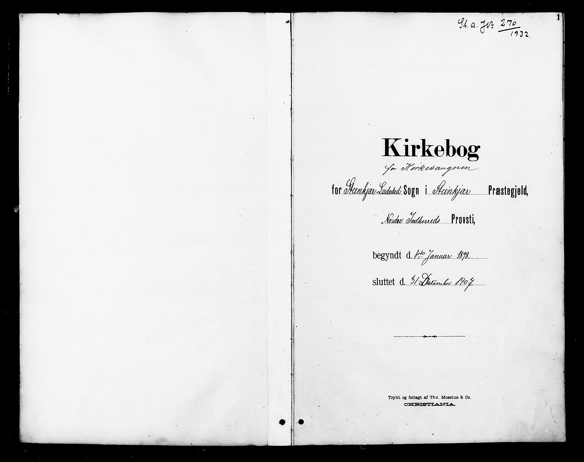 SAT, Ministerialprotokoller, klokkerbøker og fødselsregistre - Nord-Trøndelag, 739/L0375: Klokkerbok nr. 739C03, 1898-1908, s. 1