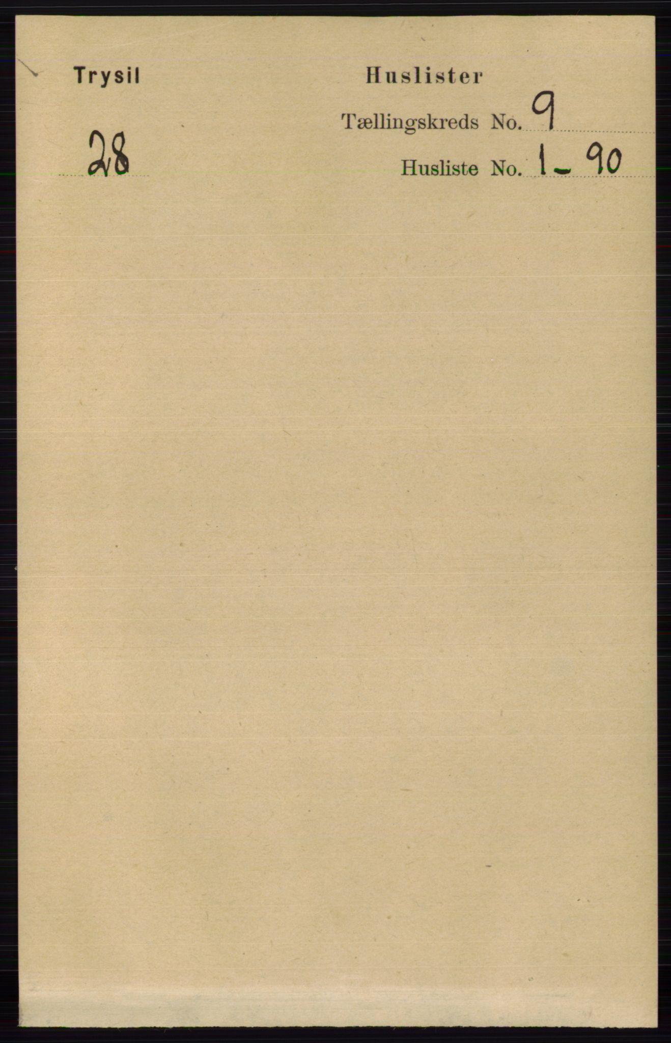 RA, Folketelling 1891 for 0428 Trysil herred, 1891, s. 4094