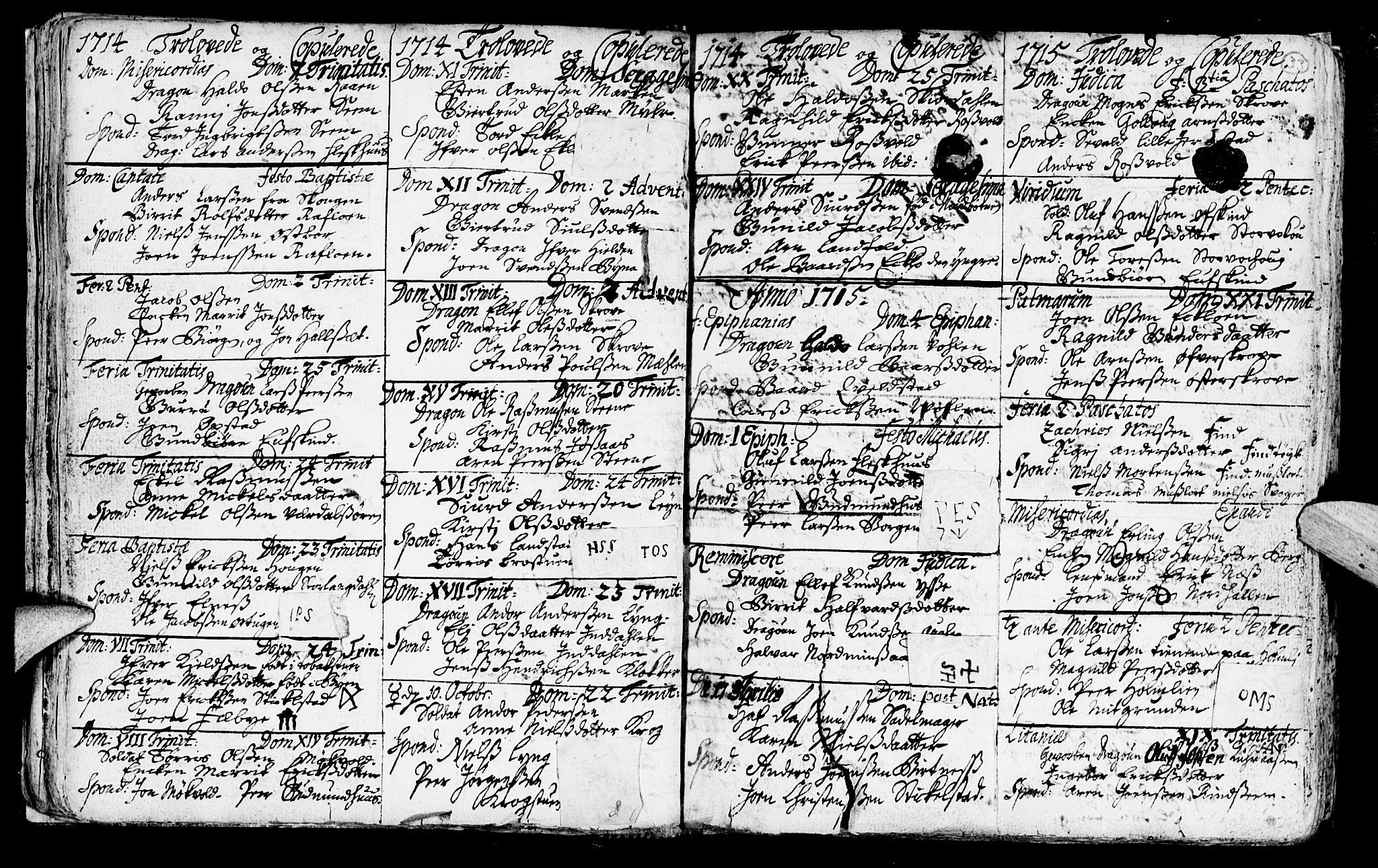 SAT, Ministerialprotokoller, klokkerbøker og fødselsregistre - Nord-Trøndelag, 723/L0230: Ministerialbok nr. 723A01, 1705-1747, s. 33