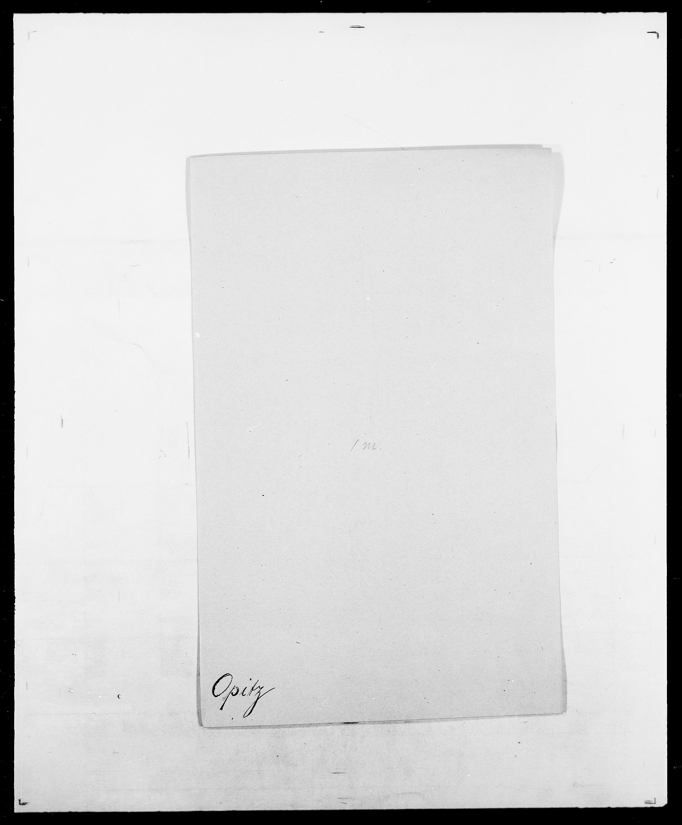 SAO, Delgobe, Charles Antoine - samling, D/Da/L0029: Obel - Oxholm, s. 311