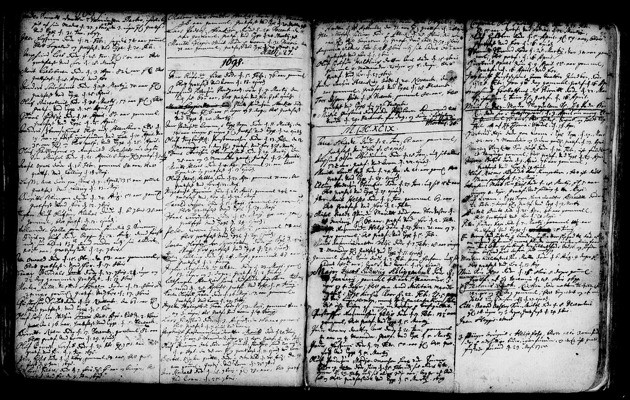 SAT, Ministerialprotokoller, klokkerbøker og fødselsregistre - Nord-Trøndelag, 746/L0439: Ministerialbok nr. 746A01, 1688-1759, s. 52