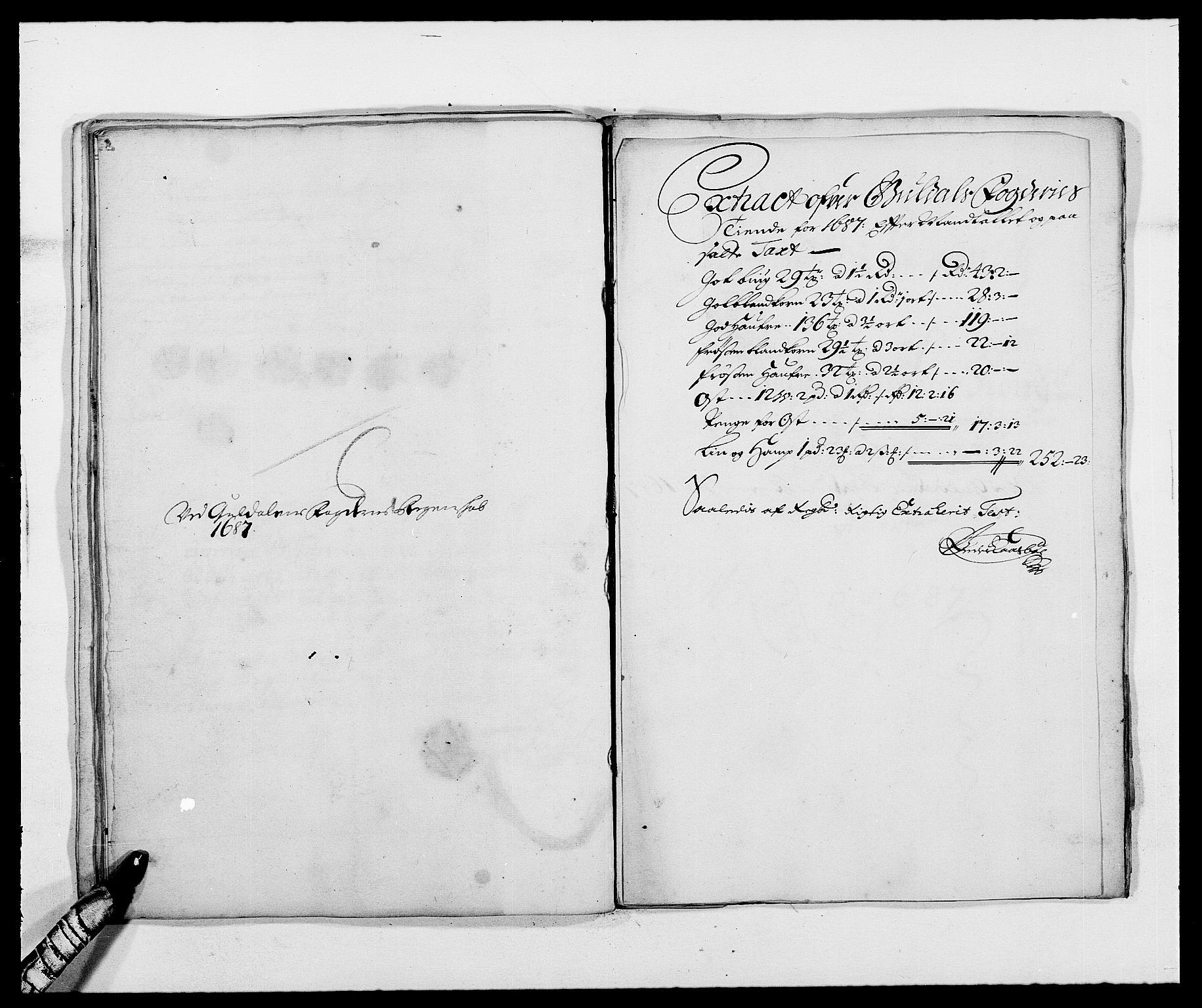 RA, Rentekammeret inntil 1814, Reviderte regnskaper, Fogderegnskap, R59/L3939: Fogderegnskap Gauldal, 1687-1688, s. 35