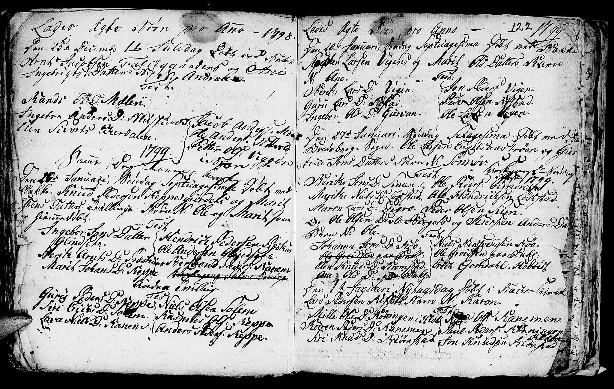 SAT, Ministerialprotokoller, klokkerbøker og fødselsregistre - Sør-Trøndelag, 606/L0305: Klokkerbok nr. 606C01, 1757-1819, s. 122