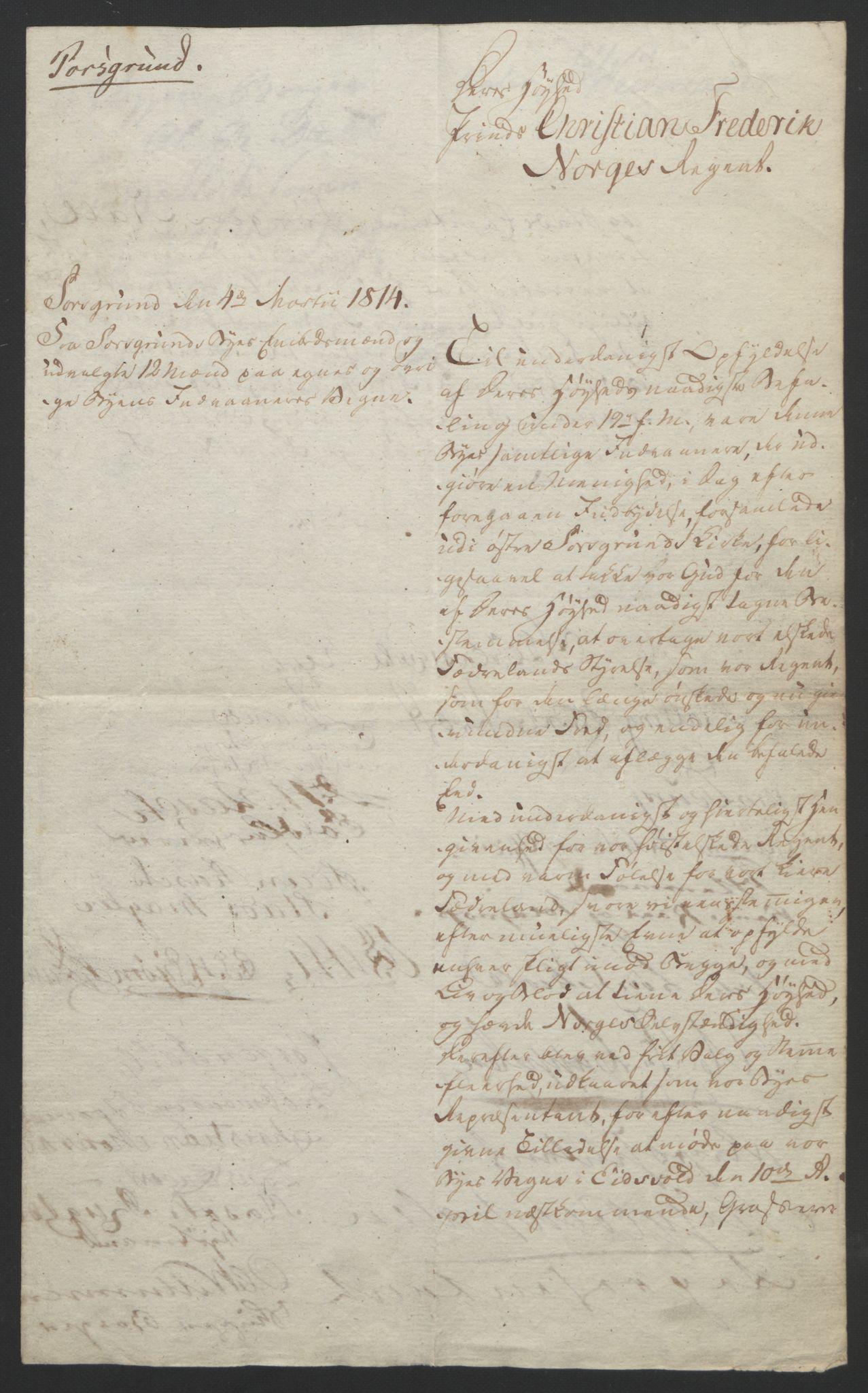 RA, Statsrådssekretariatet, D/Db/L0007: Fullmakter for Eidsvollsrepresentantene i 1814. , 1814, s. 35