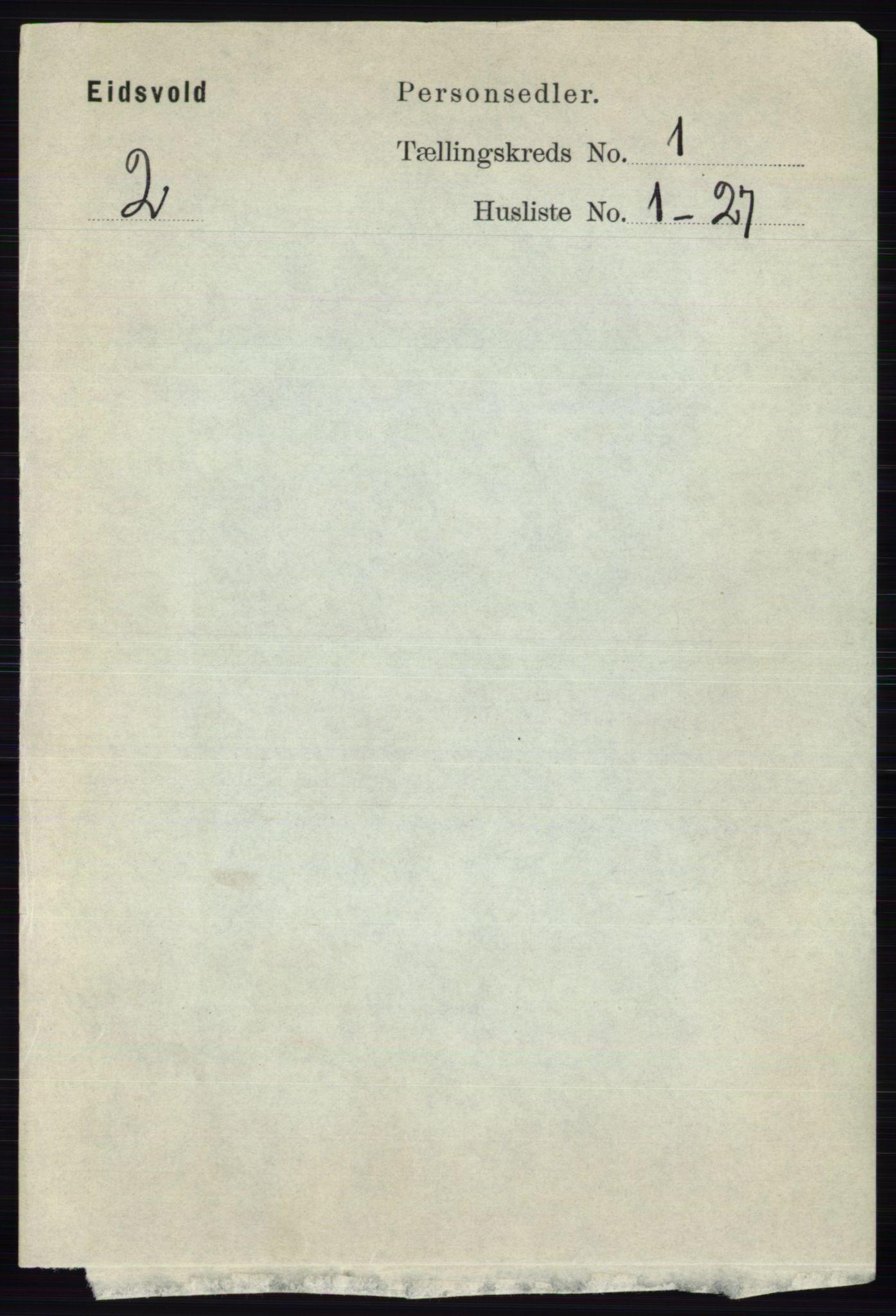 RA, Folketelling 1891 for 0237 Eidsvoll herred, 1891, s. 195